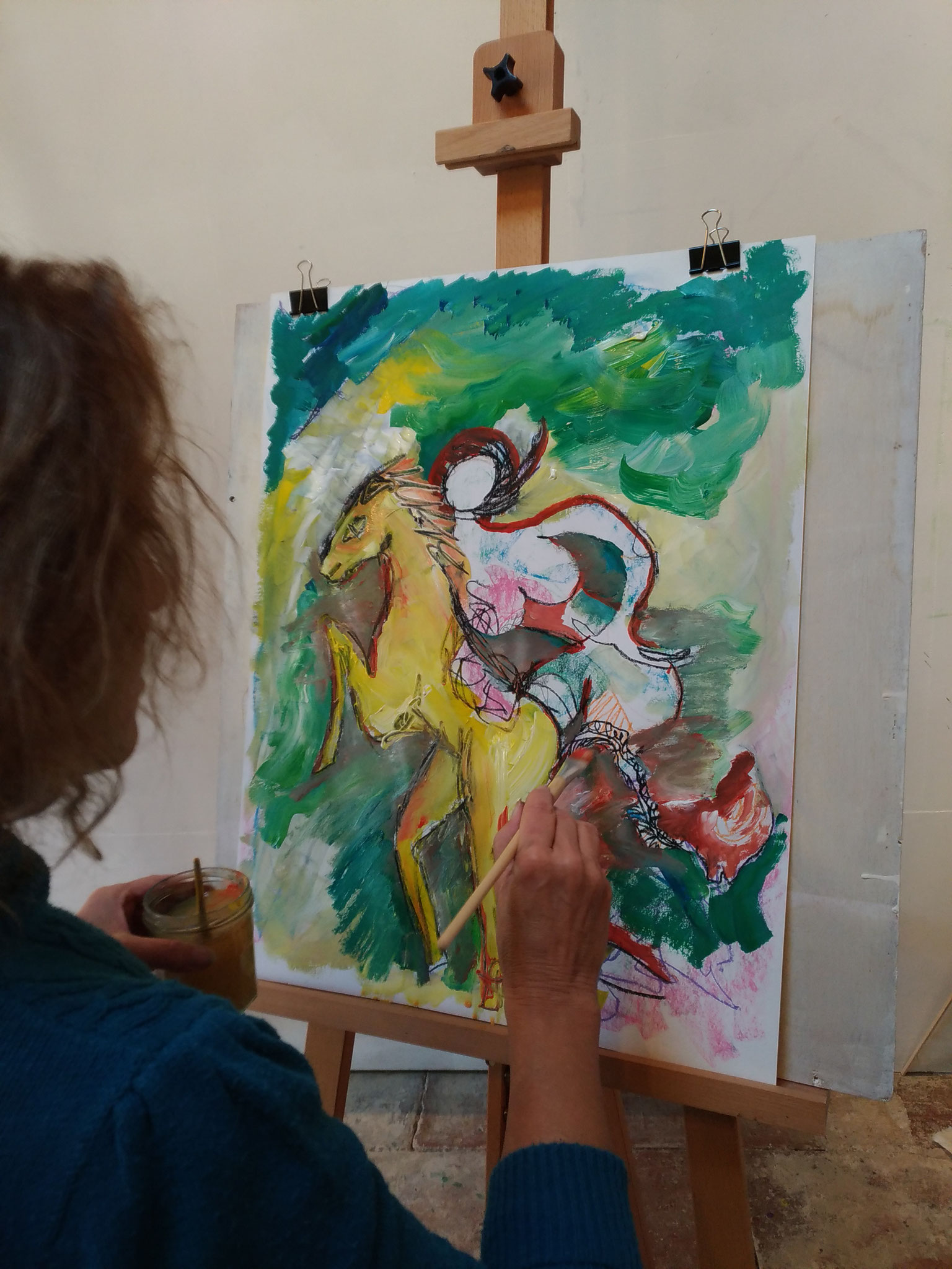 """Atelier adulte, """"peinture en mouvement"""""""