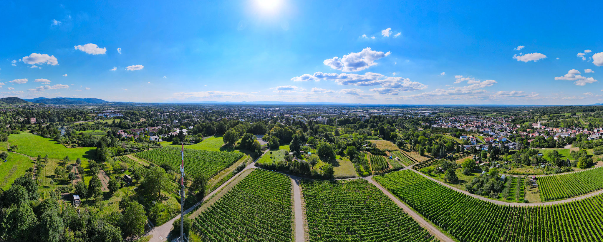 Panorama über Offenburg