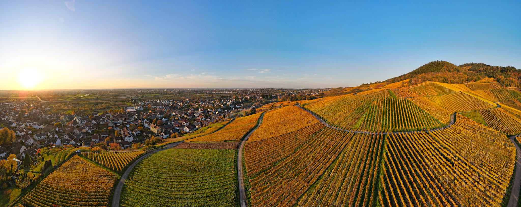 Herbst - Panorama über Ortenberg