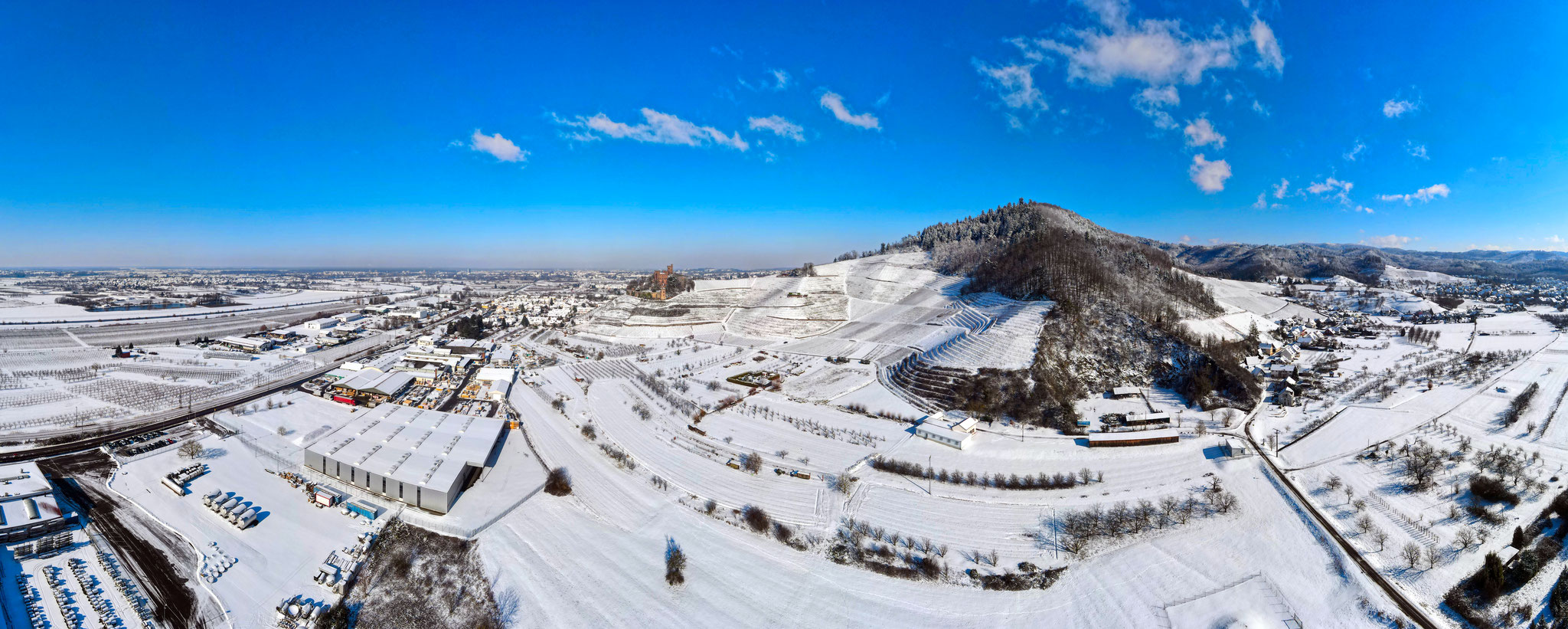 Winter - Panorama über Ortenberg