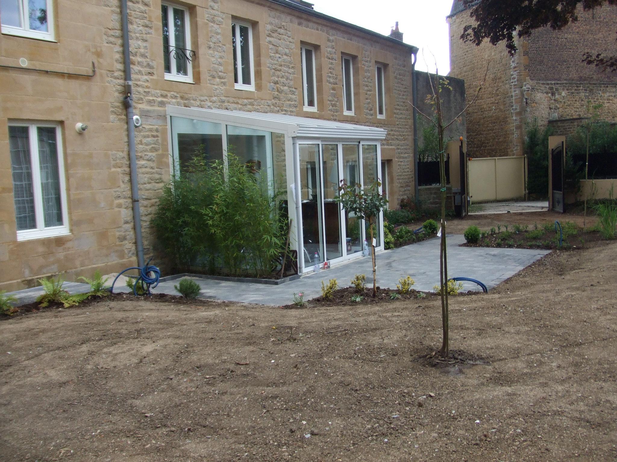 aménagement jardin pendant