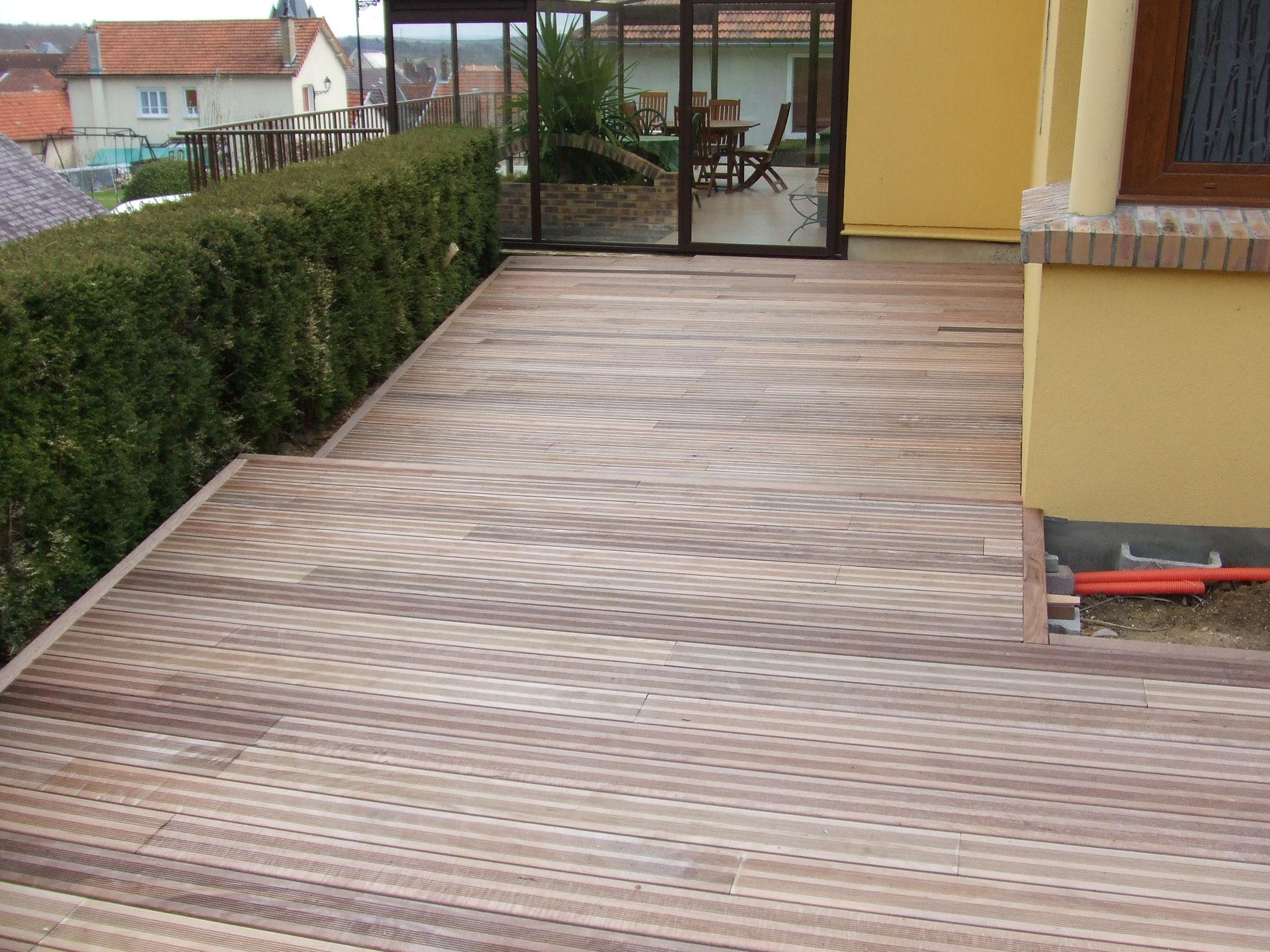 terrasse bois après
