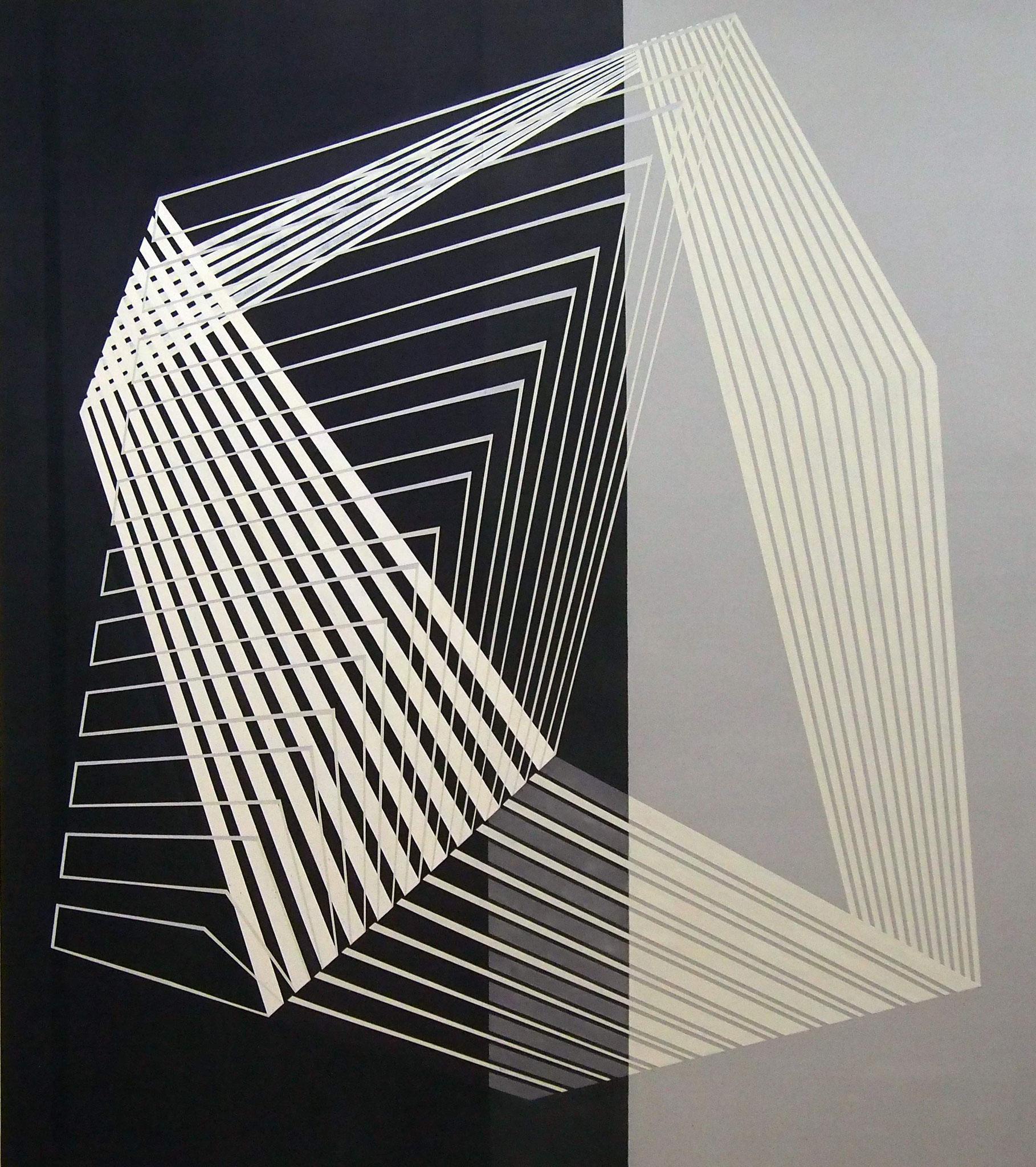 Meandros, Acrílico, grafito y pastel 170x150 cm .