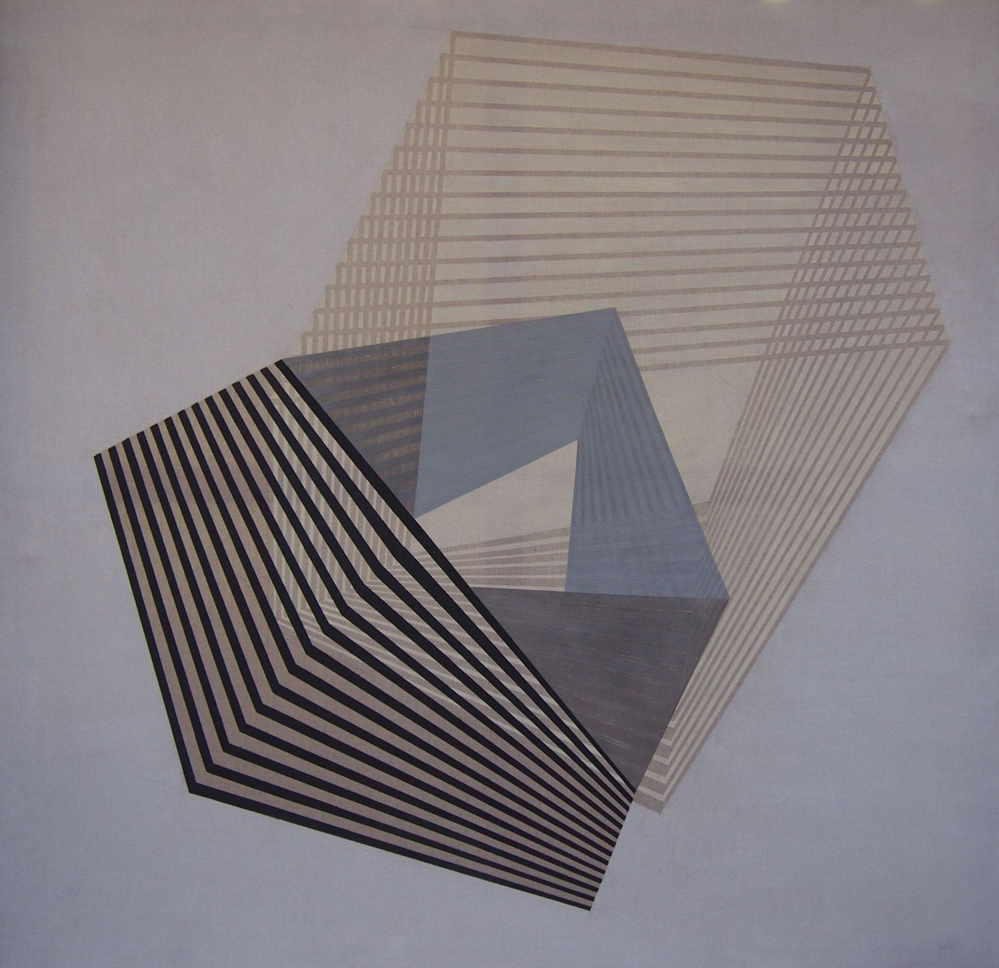 Contratiempo, Acrílico, grafito y pastel 150x160 cm.