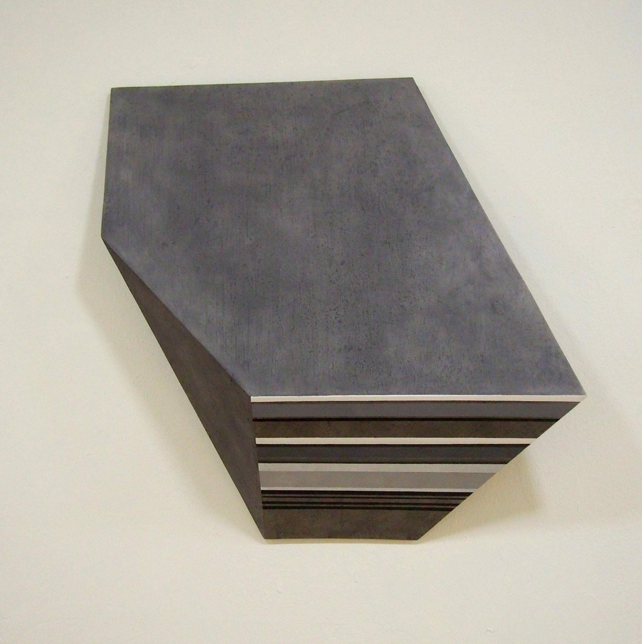 Pautas Acrílico y grafito sobre estructura de madera 55 x 55 x 12 cm