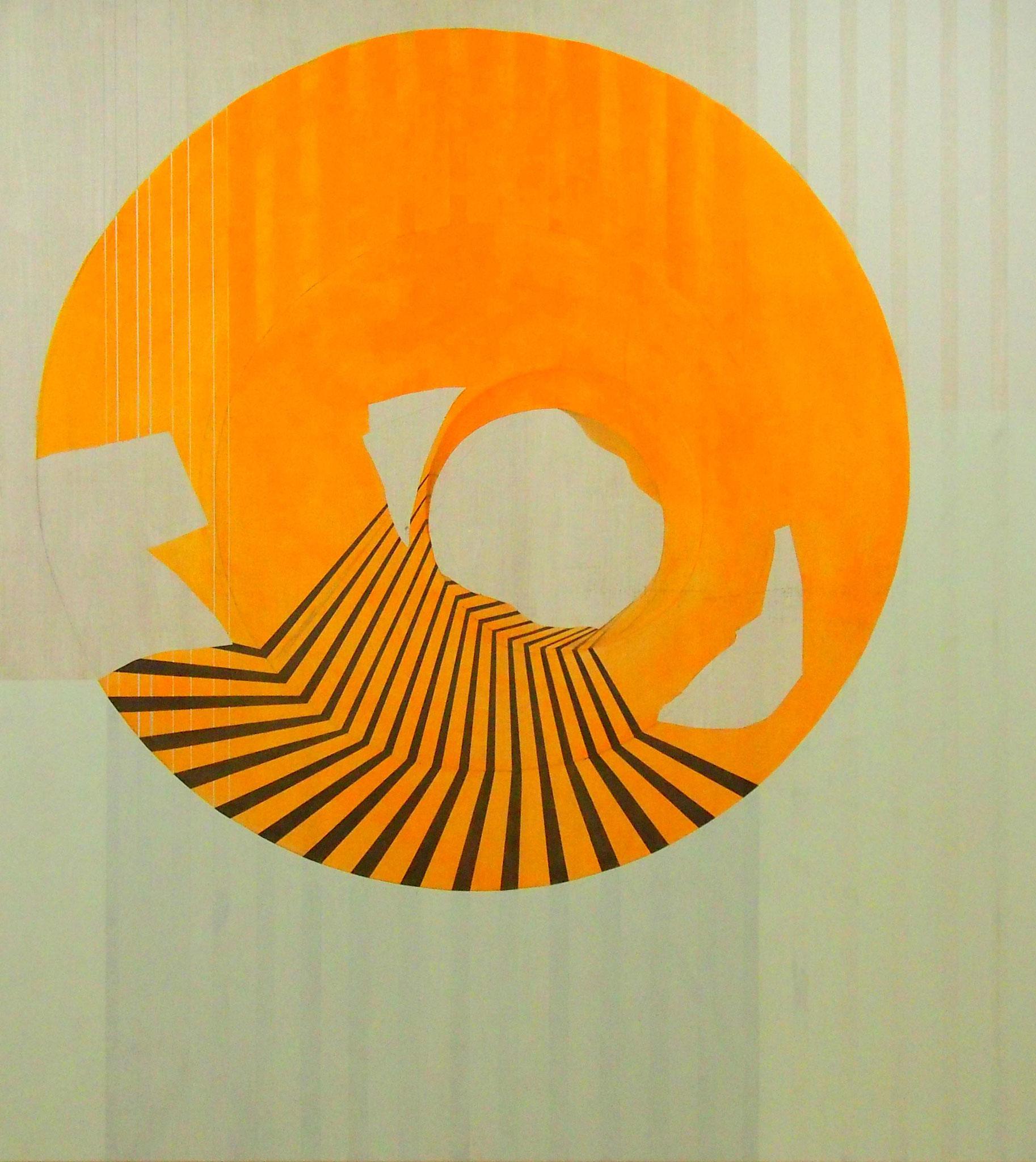 Arqueologías, Acrílico, grafito y lápiz de color 170x150 cm.