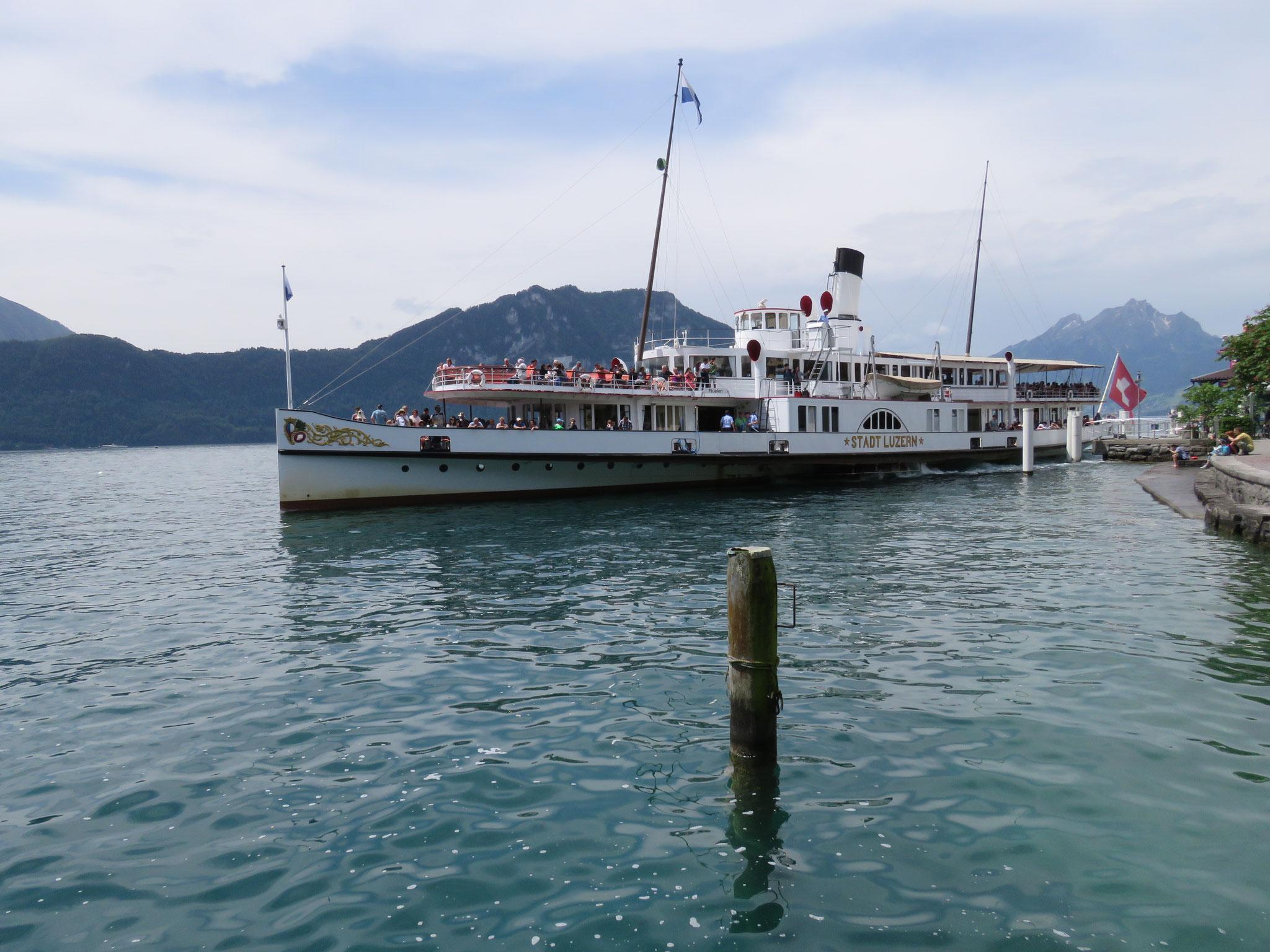 Das bald in Revision gehende Dampfschiff Stadt Luzern.