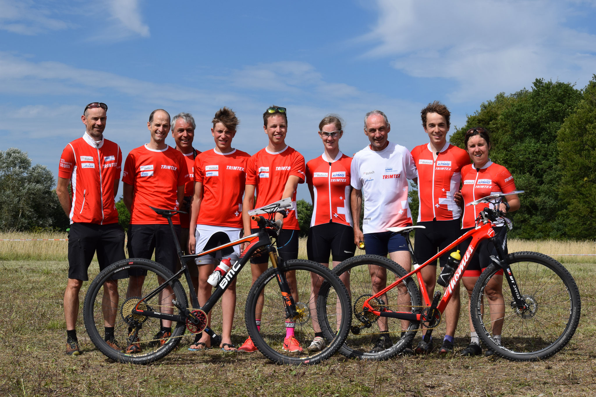 The Swiss Team at the European champs! (Christine Schaffner)