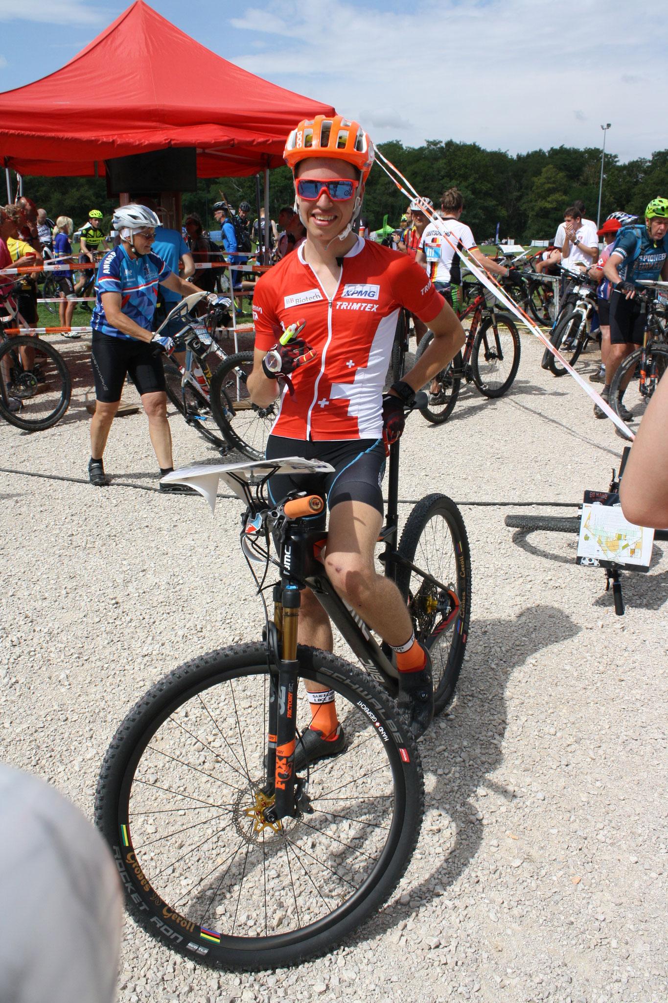 Happy after the Middle distance race (Thomas Jäggi)
