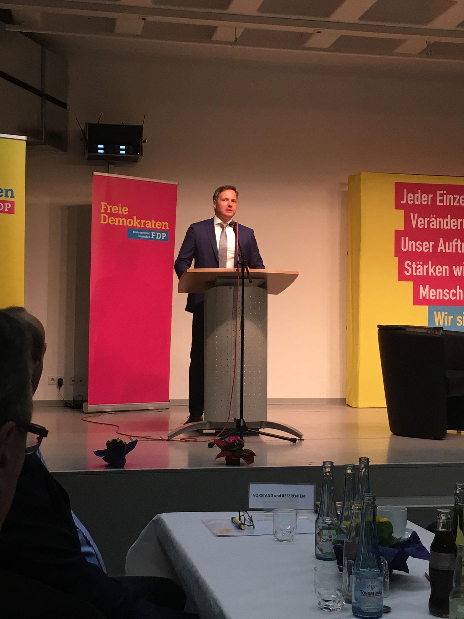 Dr. Kai Rinklake (wirtschaftspolitischer Sprecher der FDP Neuwied und Stellvertretender Kreisvorsitzender)