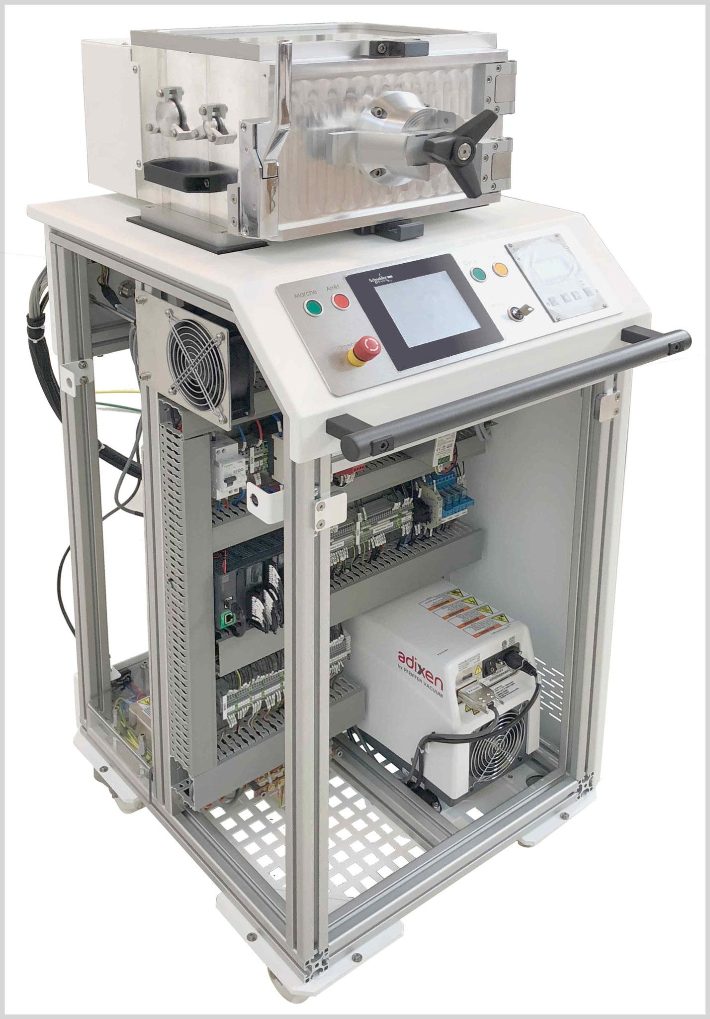 Chambre de conditionnement domaine du vide et de la soudure laser