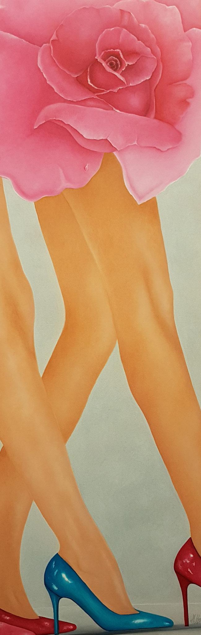 Catwalk4-180x60cm-Oelfarbe-auf-Leinwand-Beine