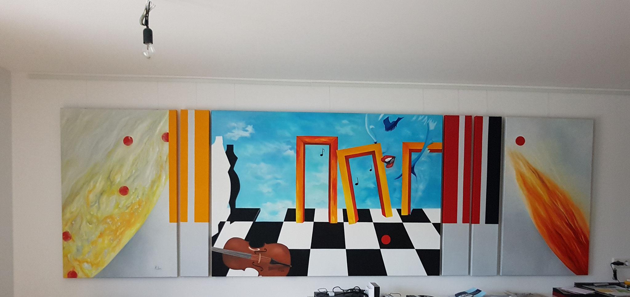 Ein-Leben-in-Leidenschaft-120x380cm-Schachbrett-Auftragsarbeit-Realistische-Malerei-Rheingau