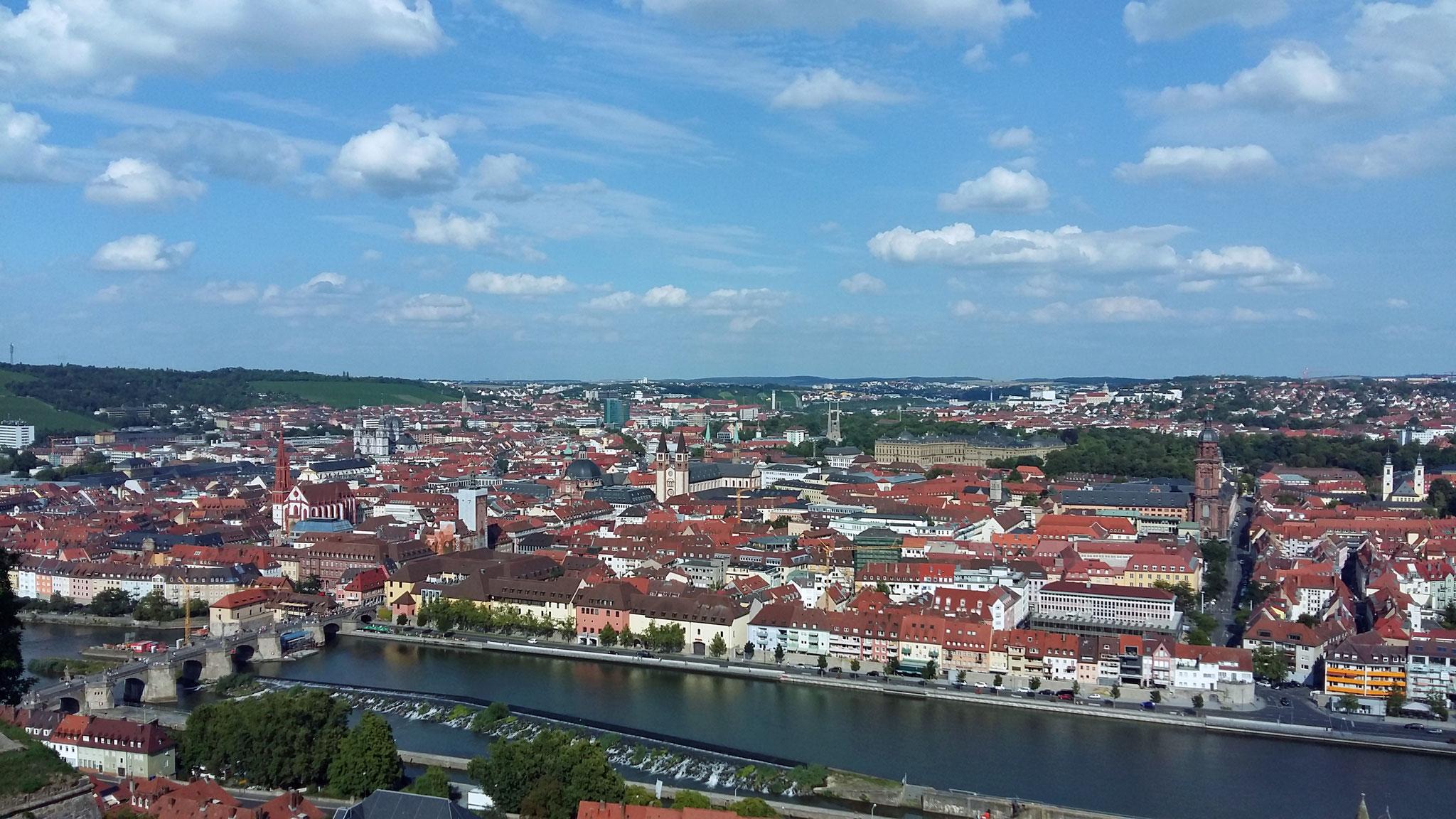 Würzburg, Blick von der Festung Marienberg