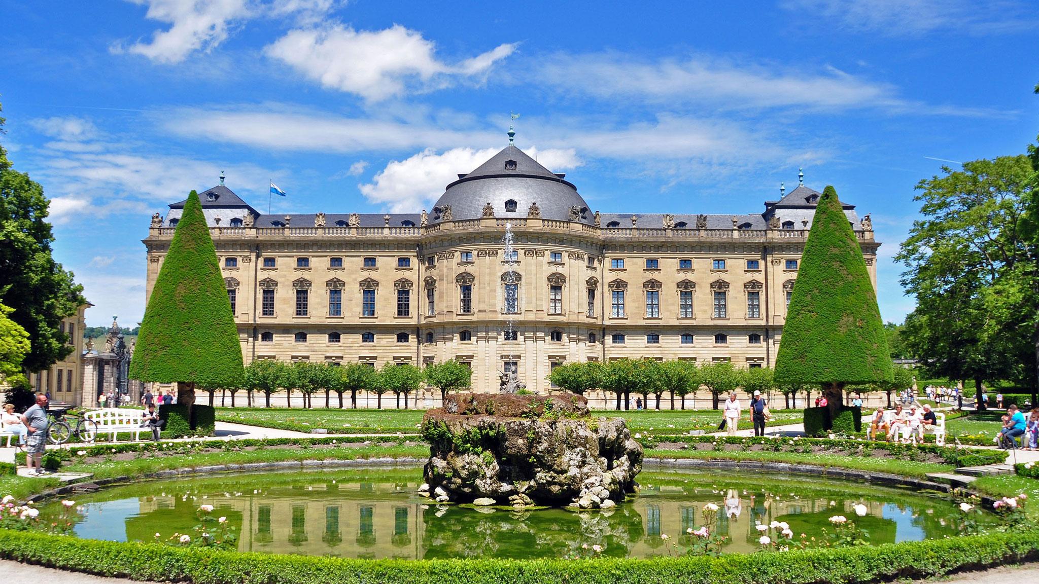 Residenz Würzburg mit Hofgarten