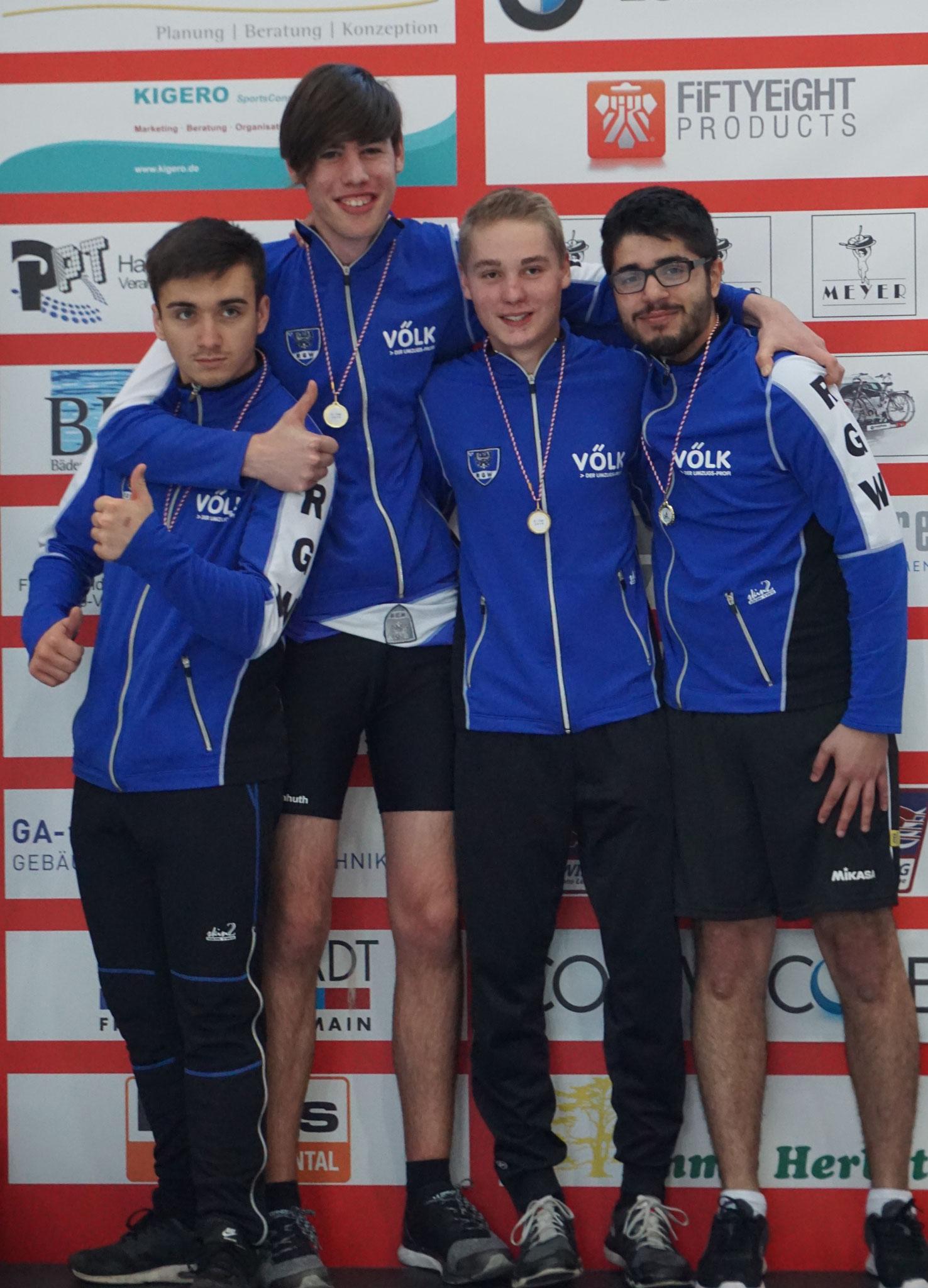 Bronze für Fabian, Mathis, Karsten und Numan