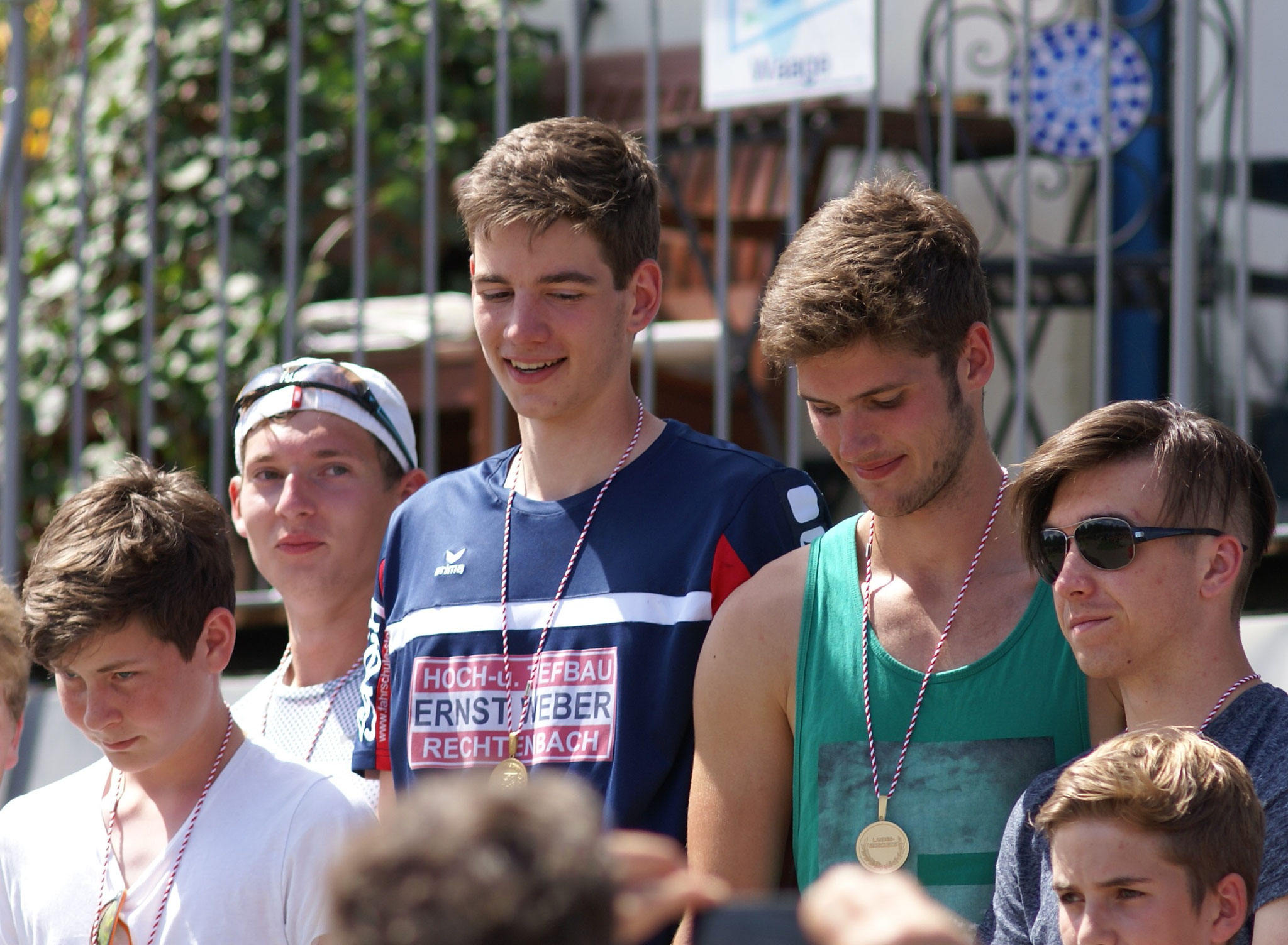 Gold Medaille für Nys, Gabriel, Jannis, Till, Fabian