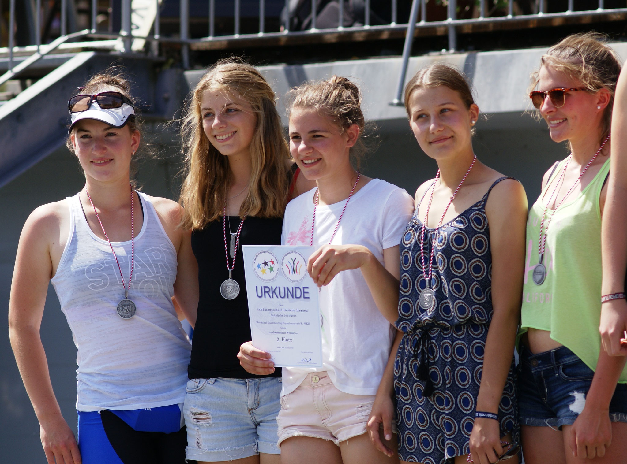 Silber Medaille für Sophia, Ann-Kathrin, Mara, Elisa, Sina