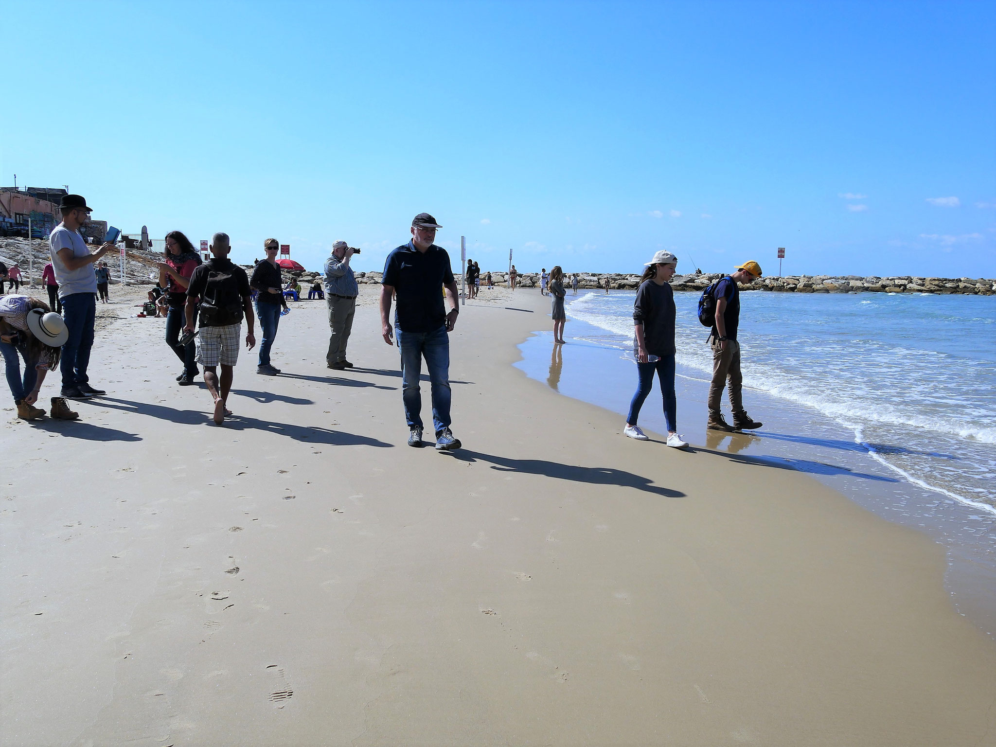 Tel Aviv - Strandspziergang am Mittelmeer