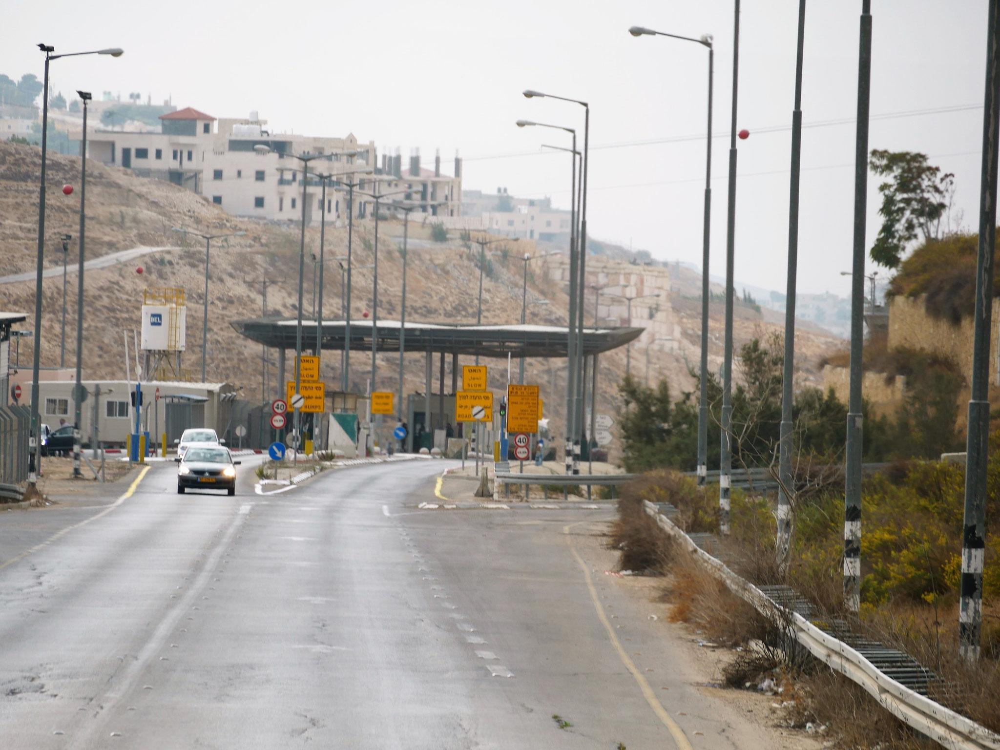 Ein Checkpoint auf dem Weg nach Bethlehem