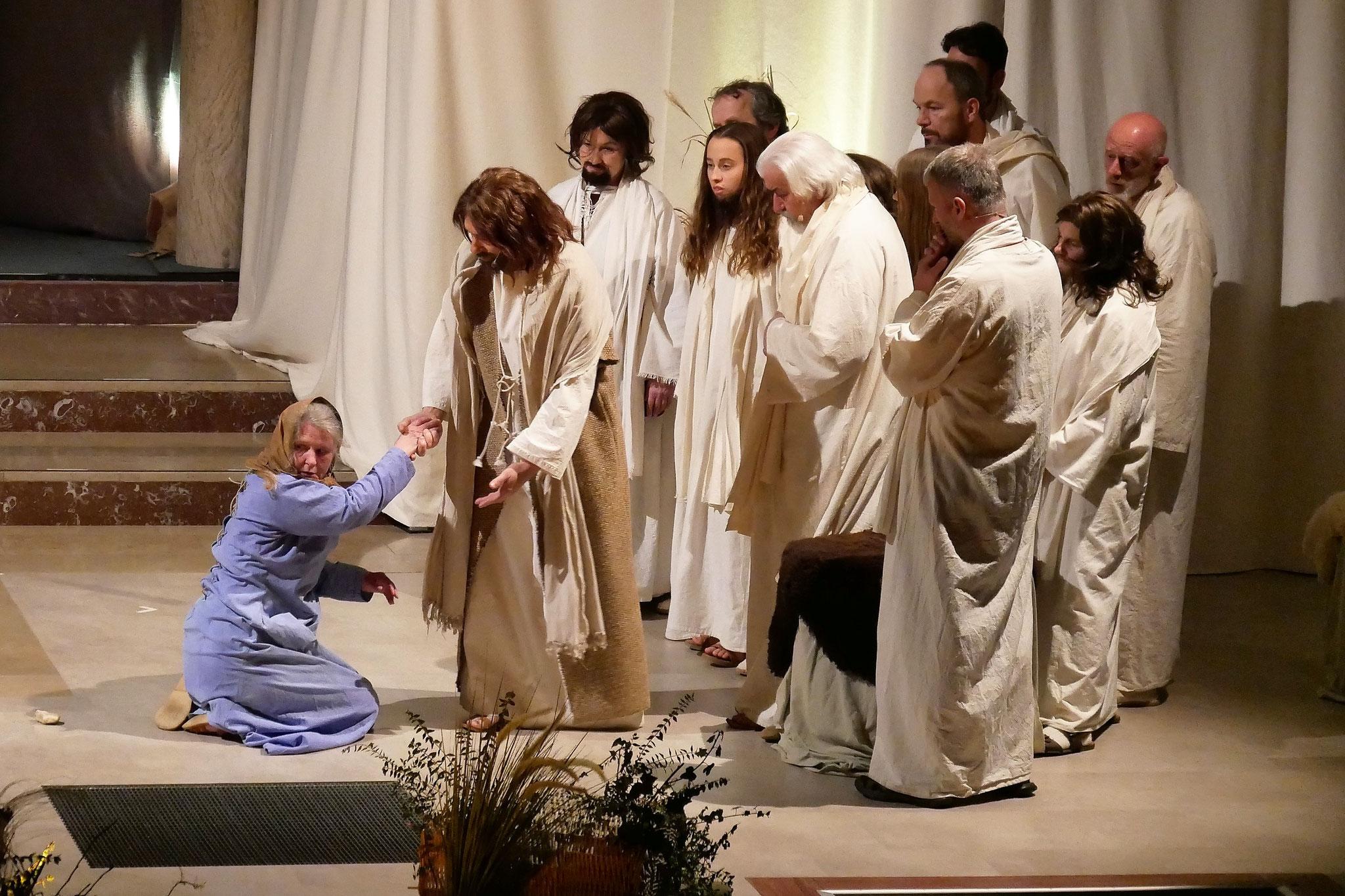 Jesus spricht mit der Ehebrecherin