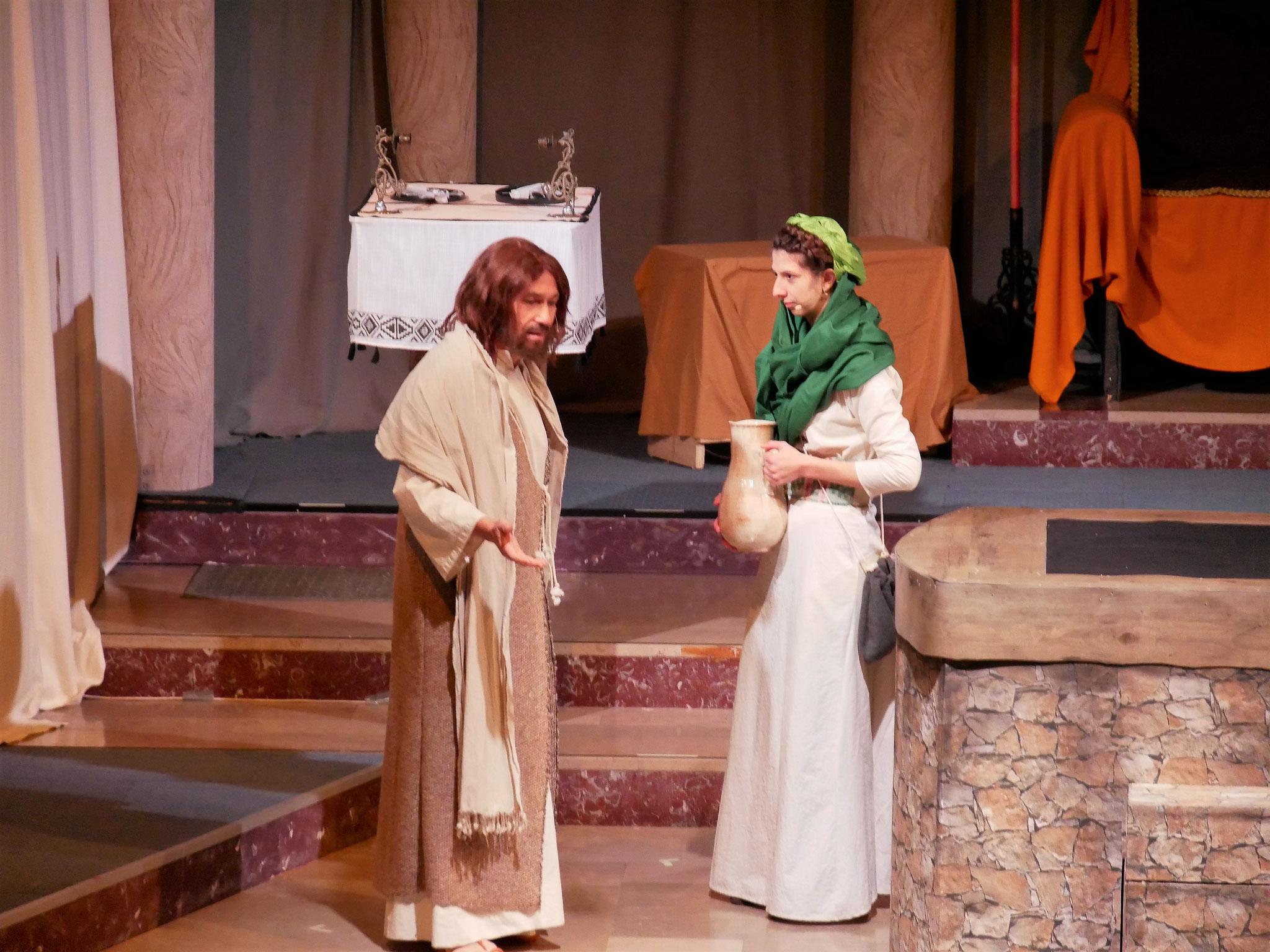 Jesus trifft die Samariterin am Brunnen