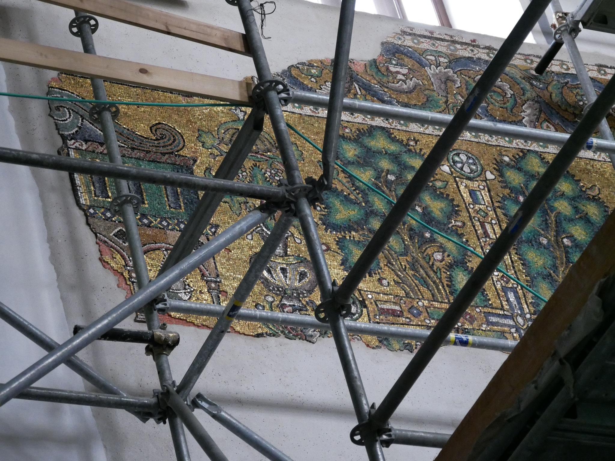 Die Basilika wird derzeit restauriert