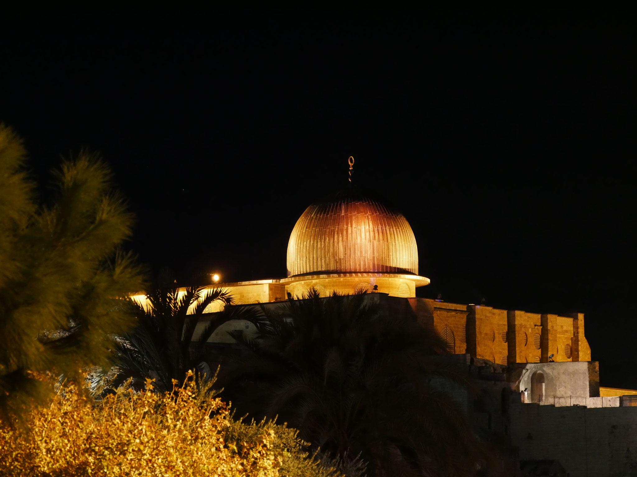 Al-Aksa-Moschee bei Nacht