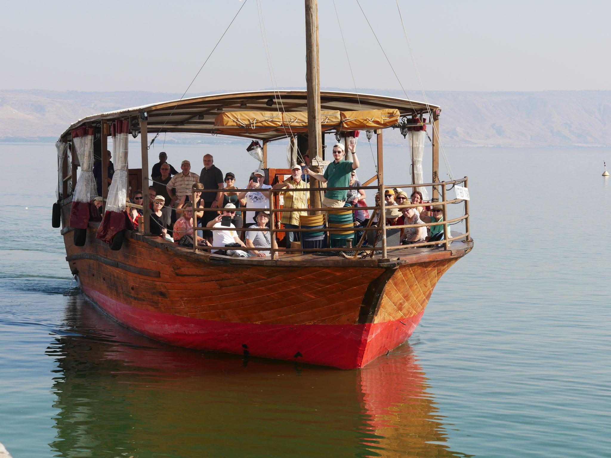 Bootsfahrt auf dem See Genezareth