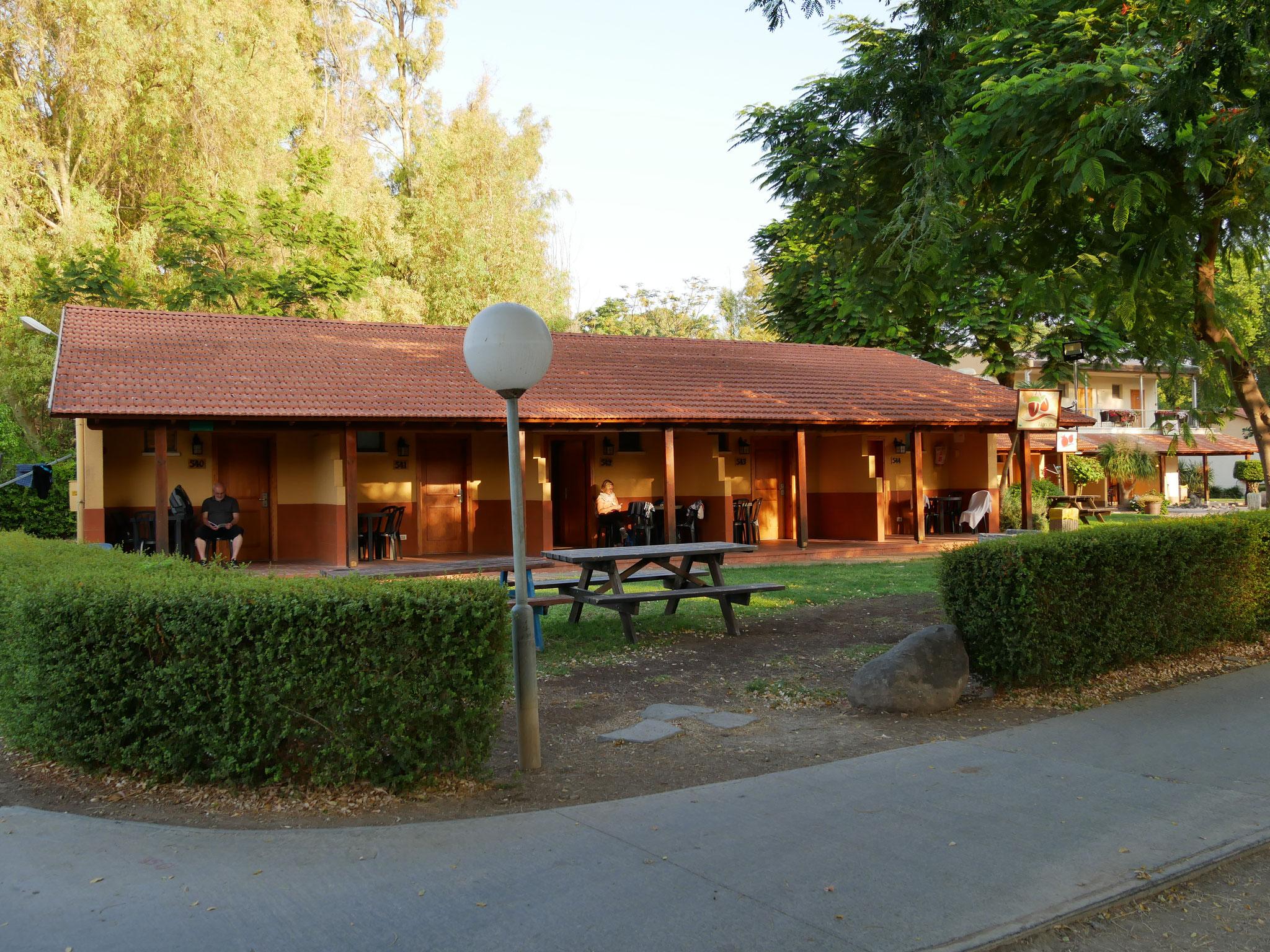 Unterkunft im Kibbuz Nof Ginnosar am See
