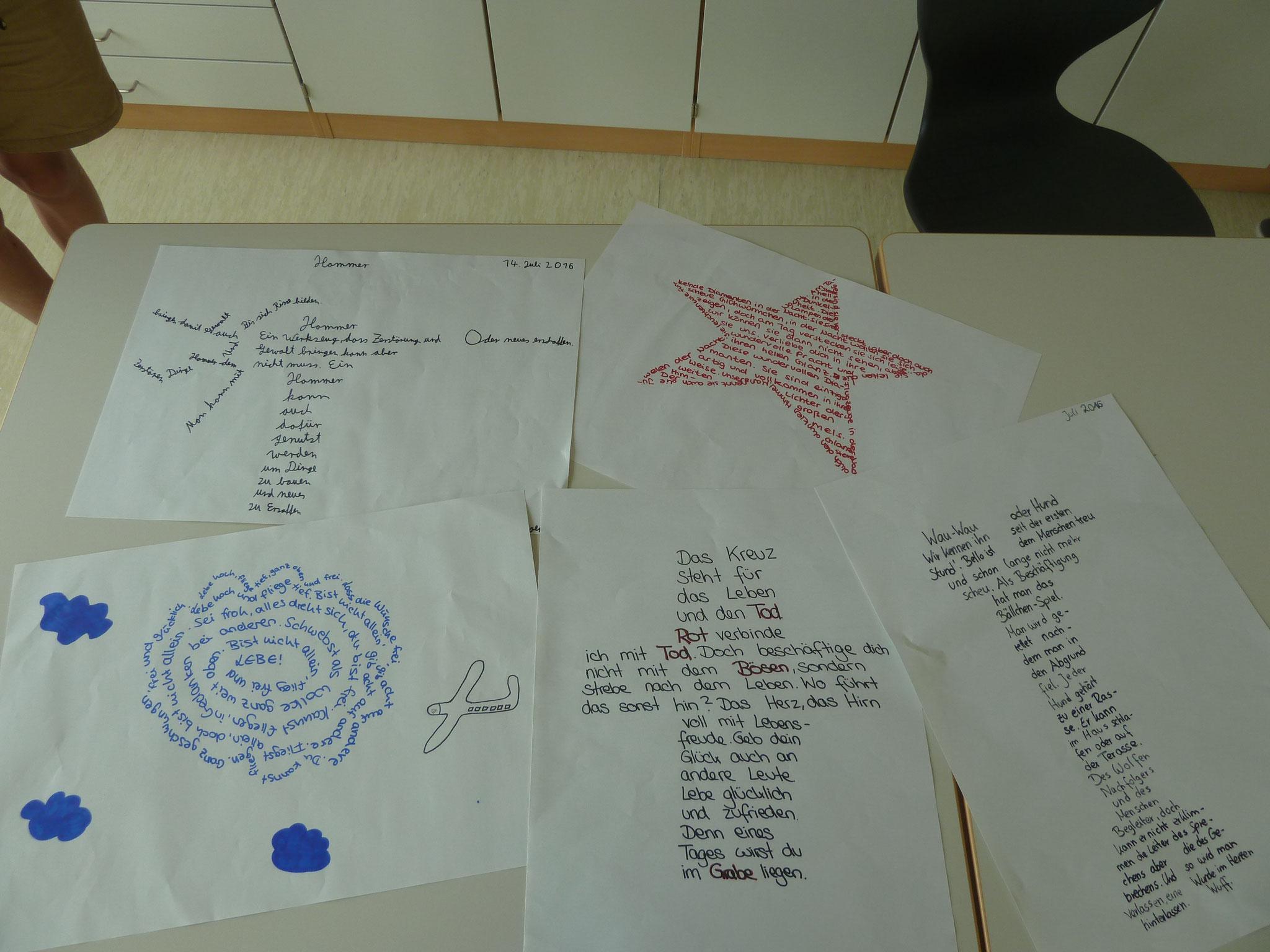 Gedichte aus dem Deutschunterricht