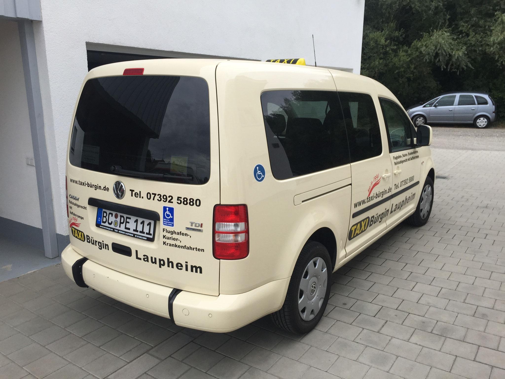 VW Caddy Maxi, wahlweise mit Rollstuhlplatz oder als 7-Sitzer
