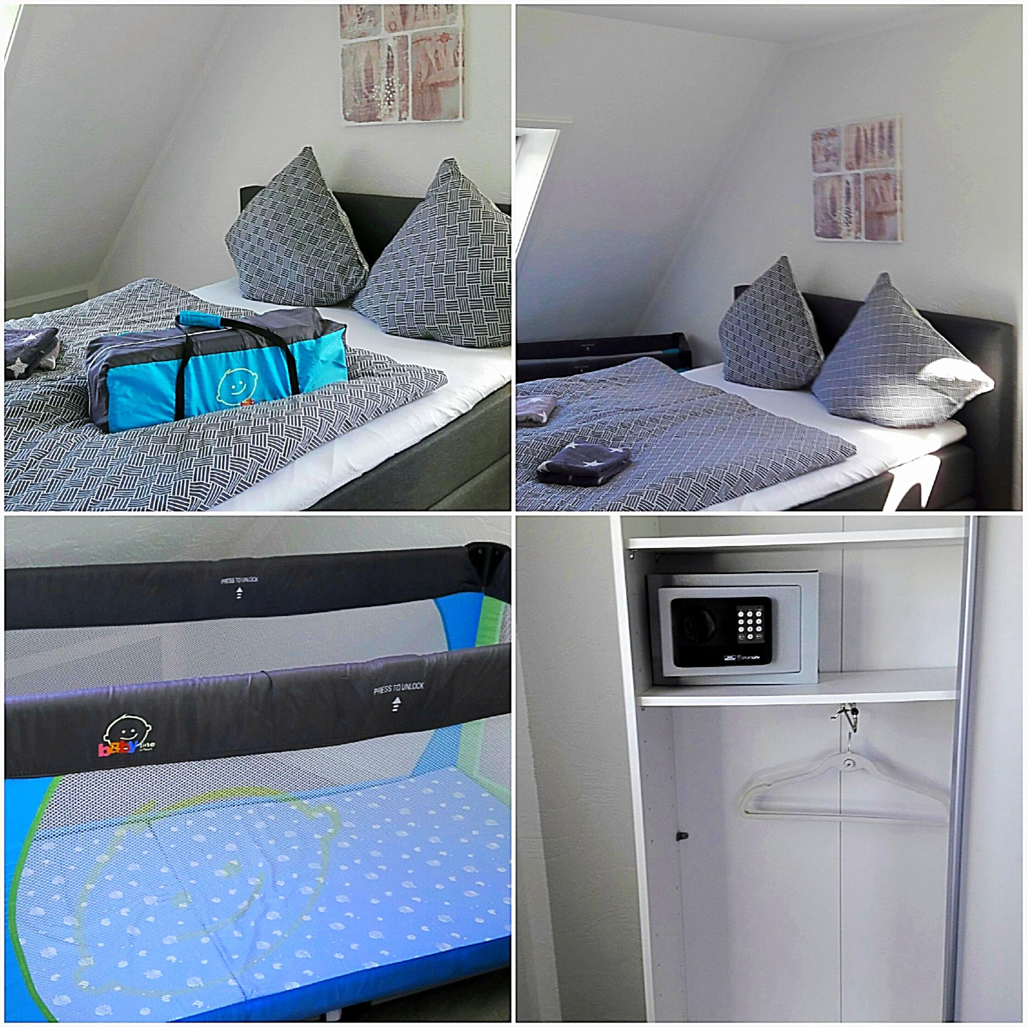 Großes Schlafzimmer zum abdunkeln