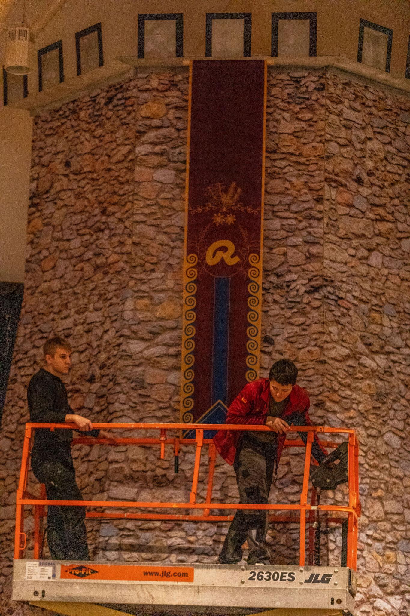 Banner Ricola am Turm