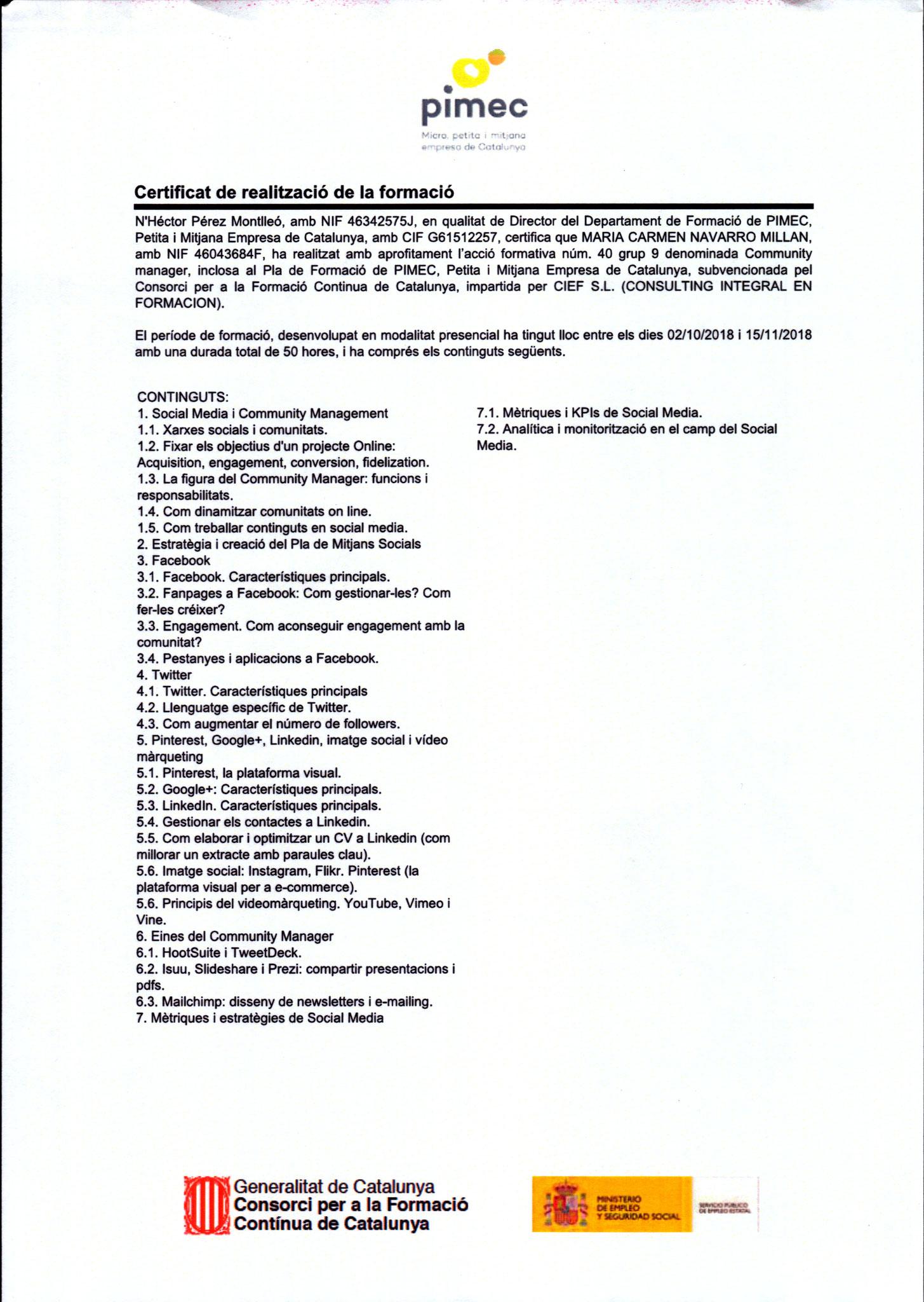 Certificado en Community Manager