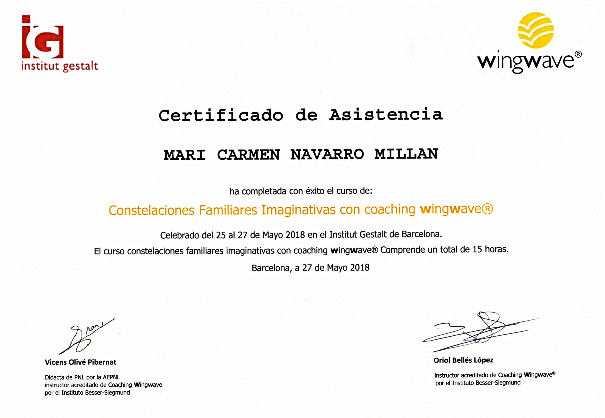 Certificación en Constelaciones Familiares Imaginativas con Coaching Wingwave®
