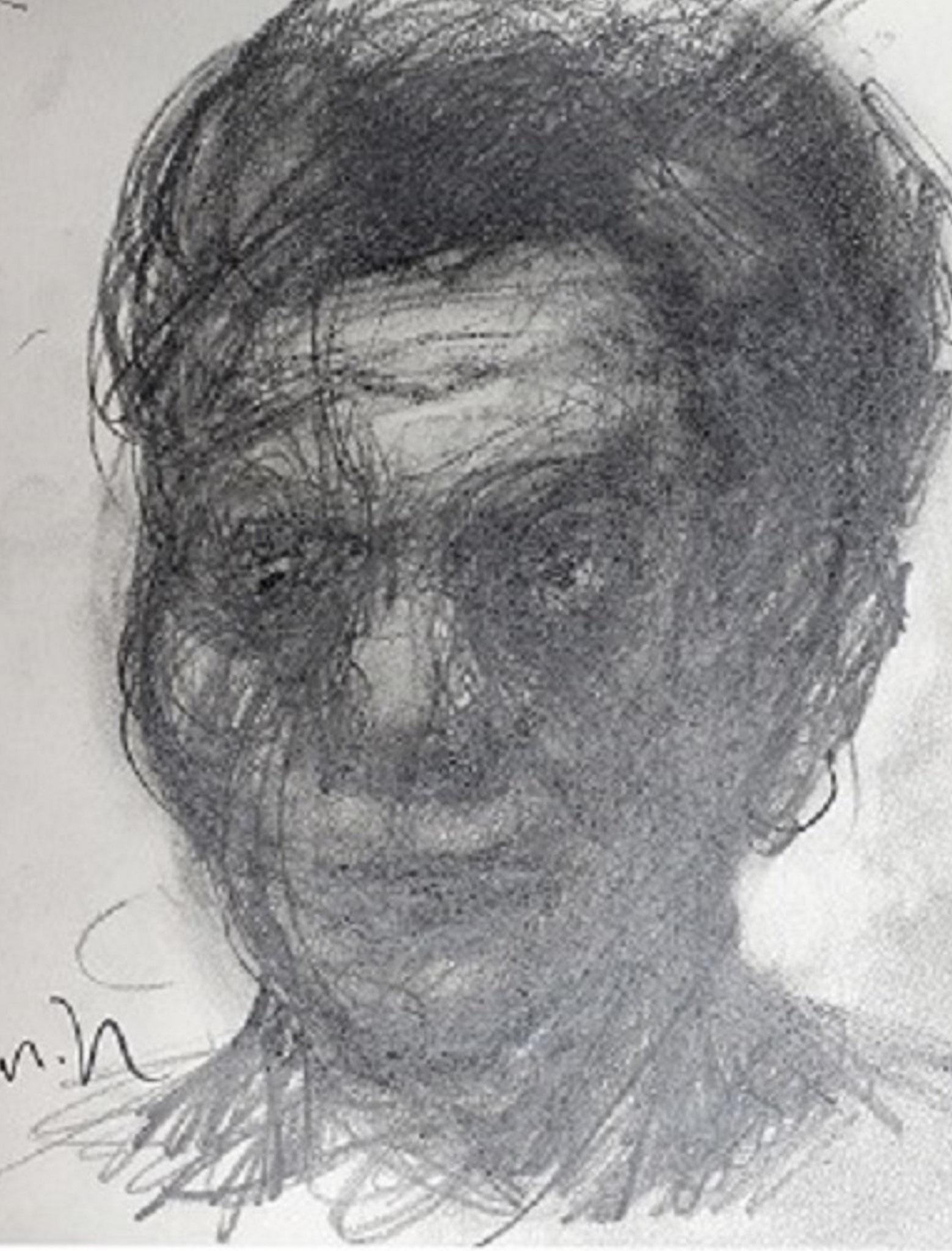 「肖像デッサン」 鉛筆・画用紙