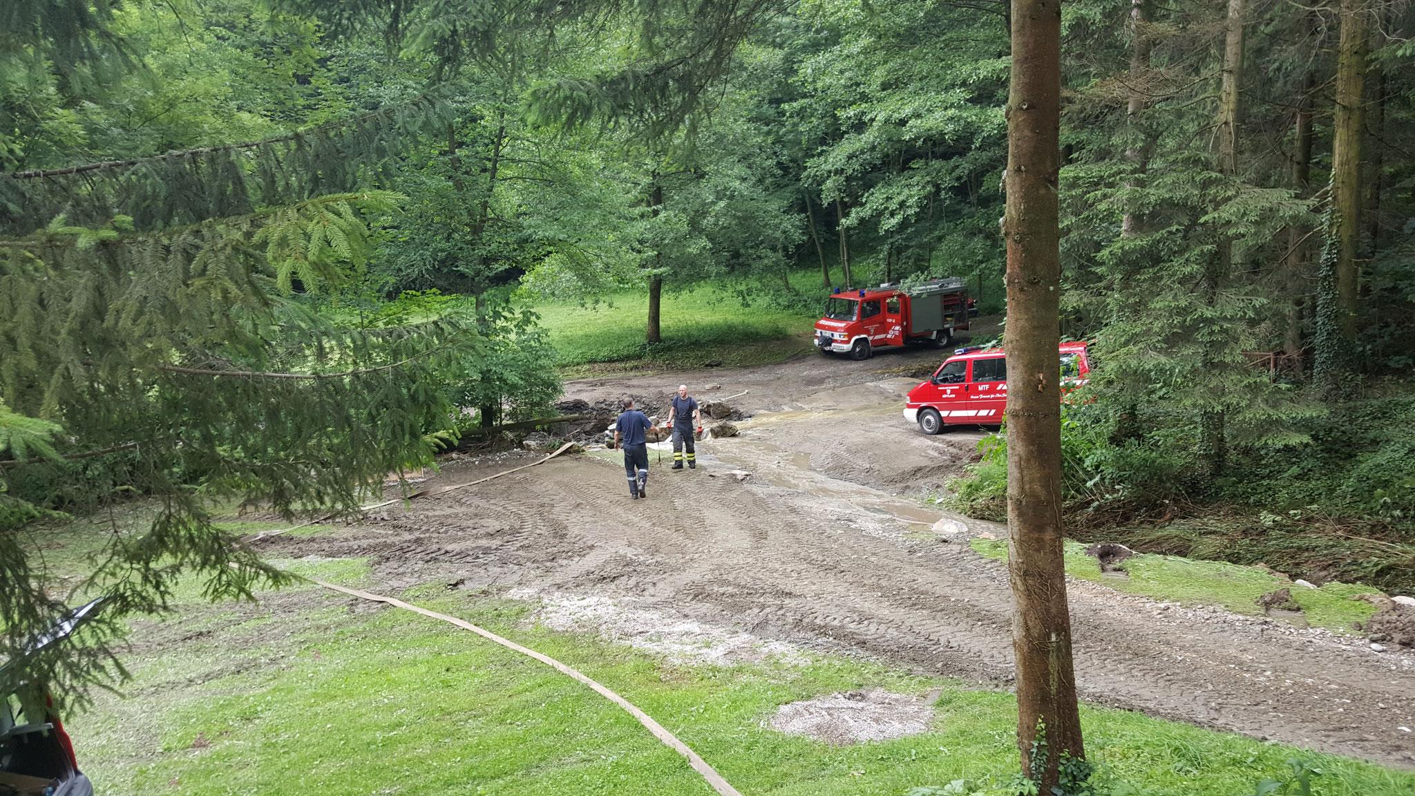 Unwetter am 12.6.2018 - DANKE AN ALLE HELFER FÜR DIE RASCHE HILFE INSBESONDERS DER FF KÖTTLACH