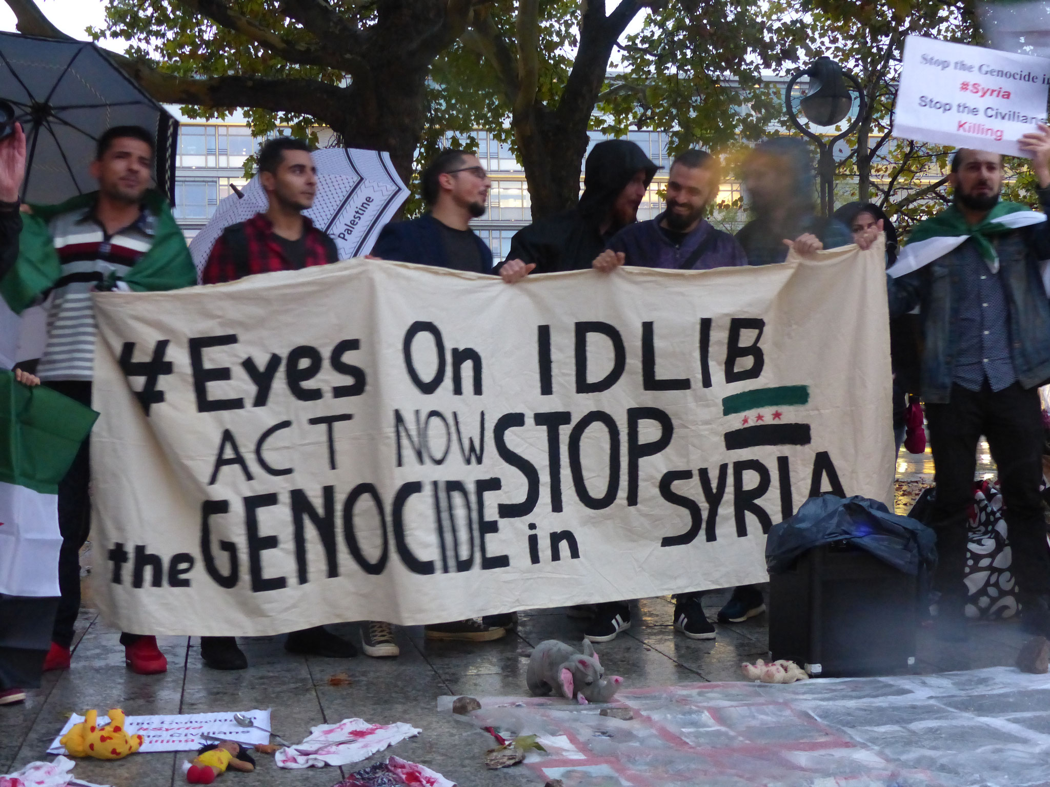 #EyesOnIdlib: Stop the genocide in Syria! - Photo: Jens-Martin Rode