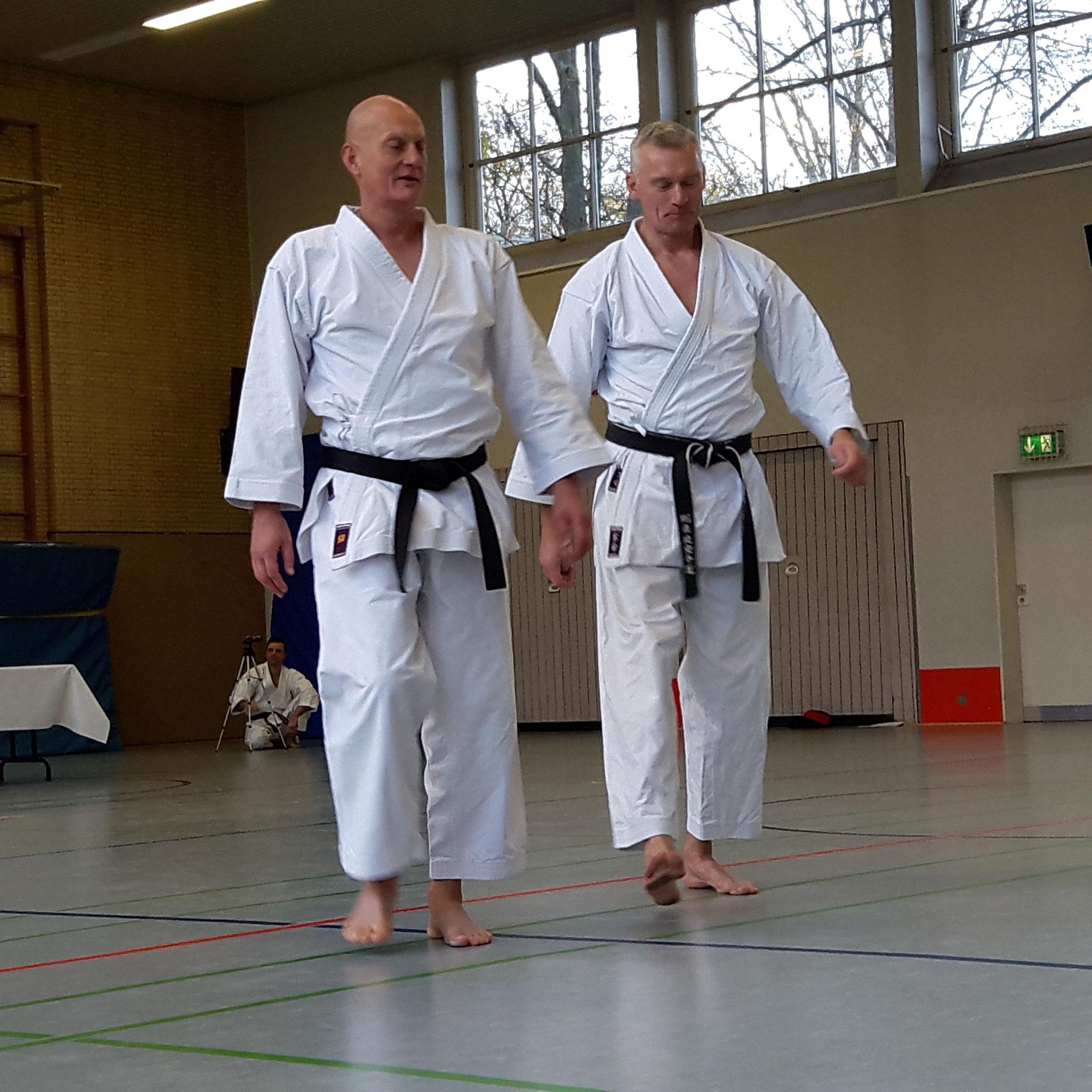 Karate Dan Prüfung von Gerd Wegner mit Partner Thomas Neumann am 23.November 2019 in Neuss