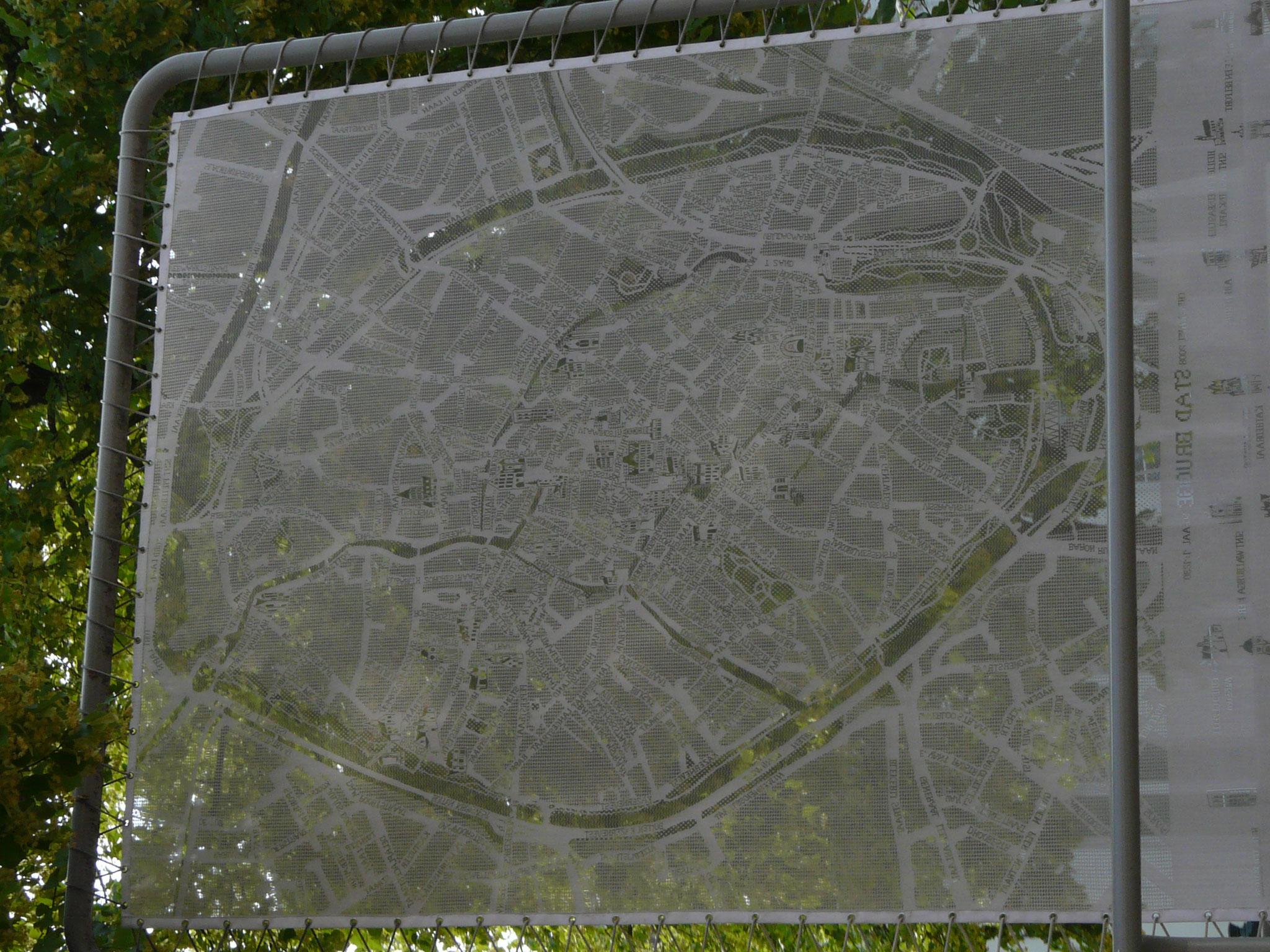 Plan en dentelle de la Ville de Bruges