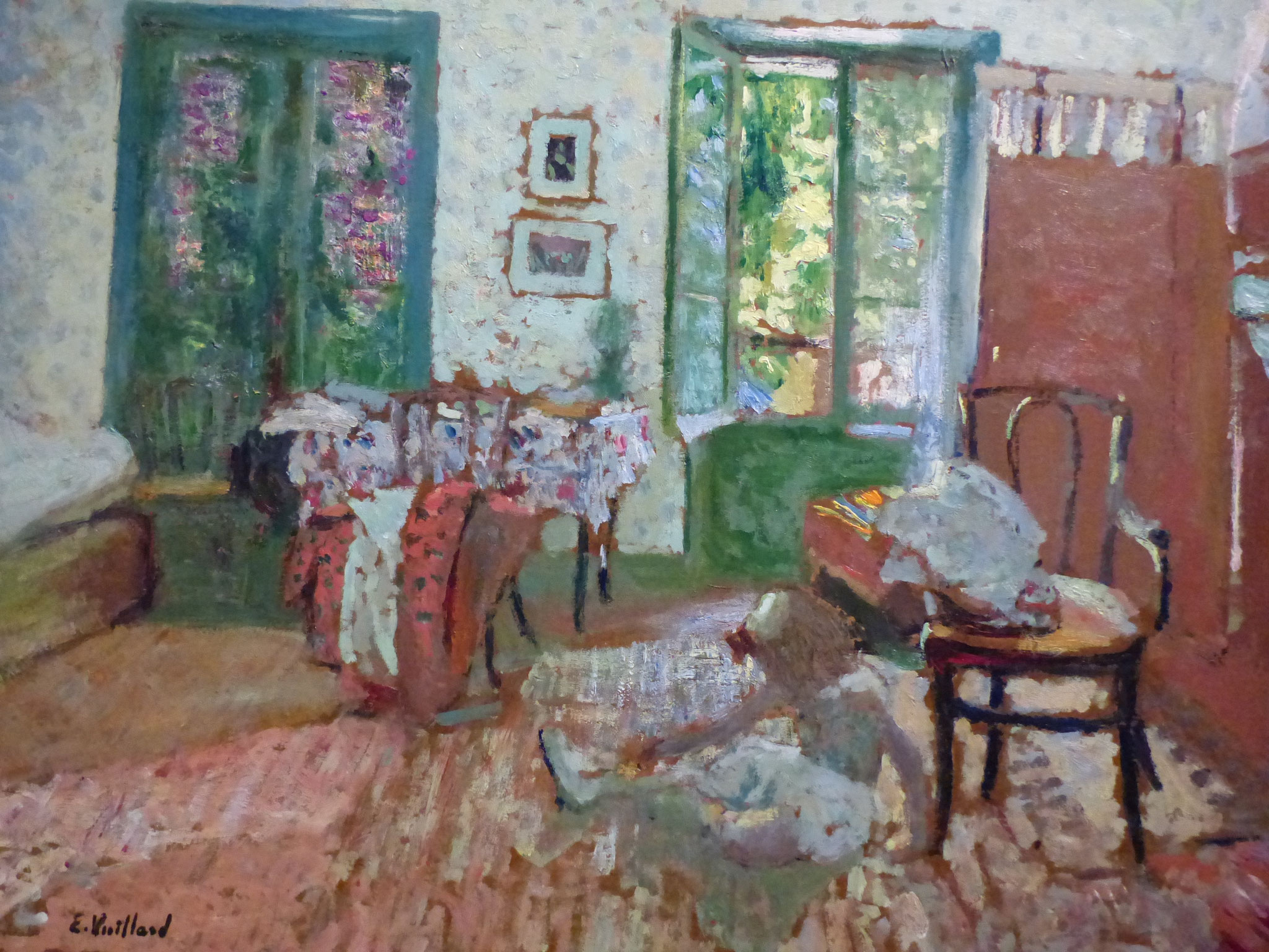 Edouard Vuillard - intérieur, Annette au pied d'un fauteuil