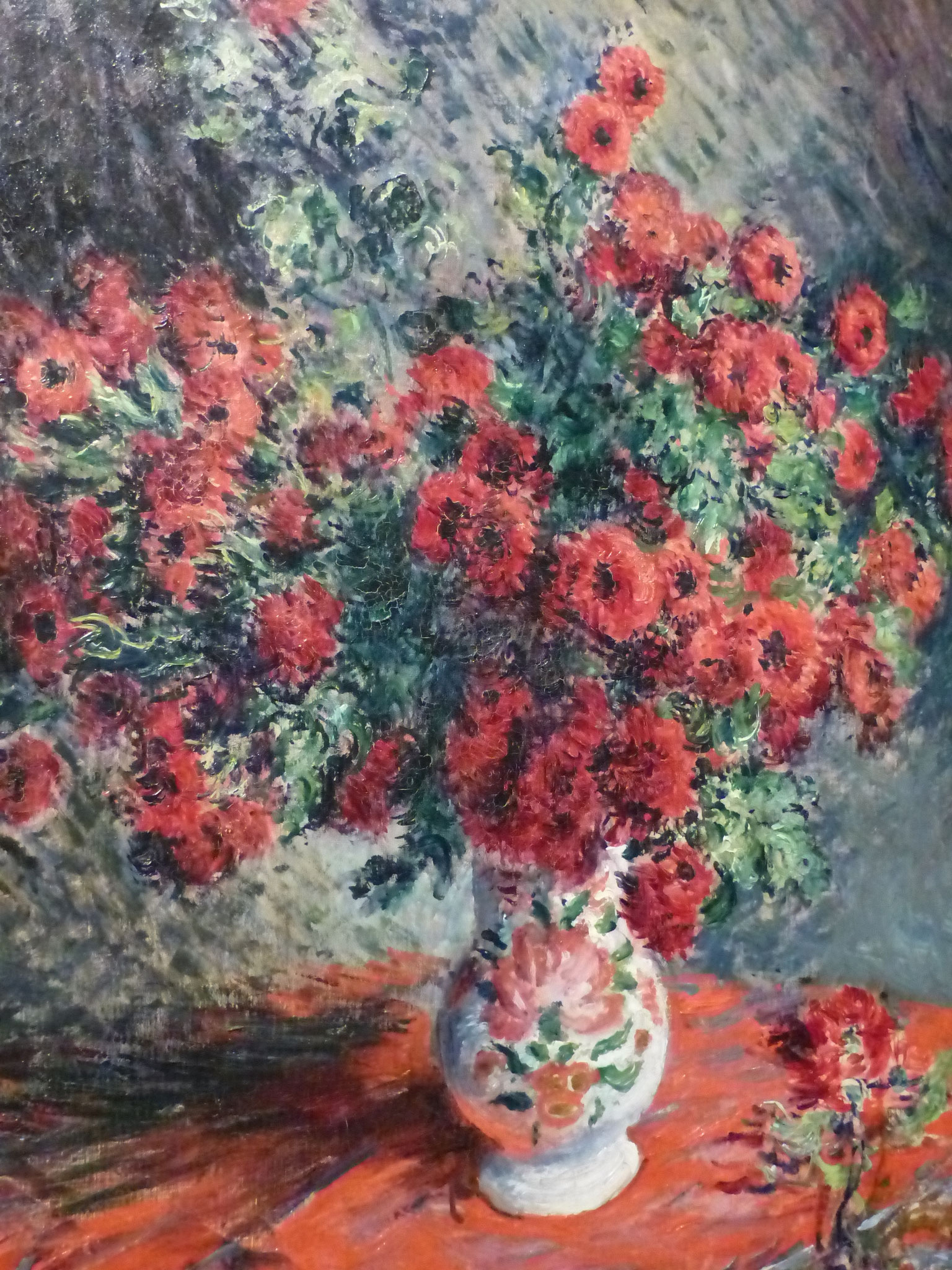 Claude Monet - Chrysanthèmes rouges