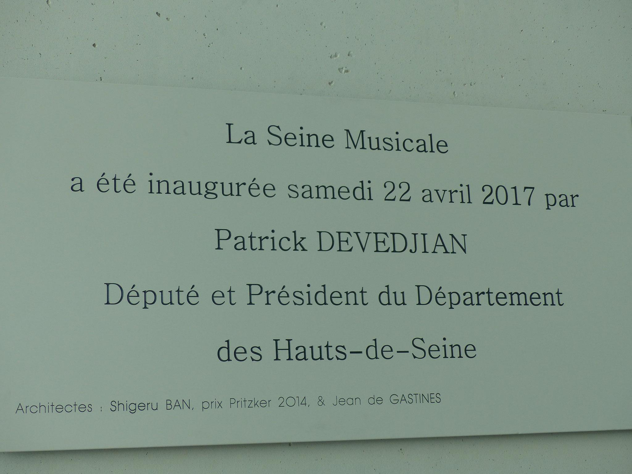 Inauguration de la Seine Musicale