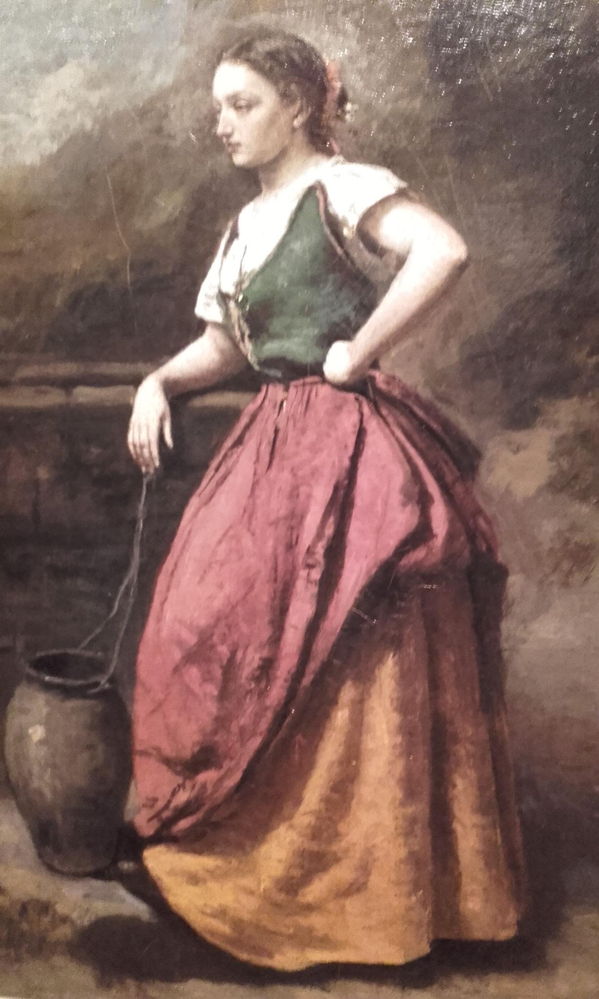 Jeune femme à la fontaine