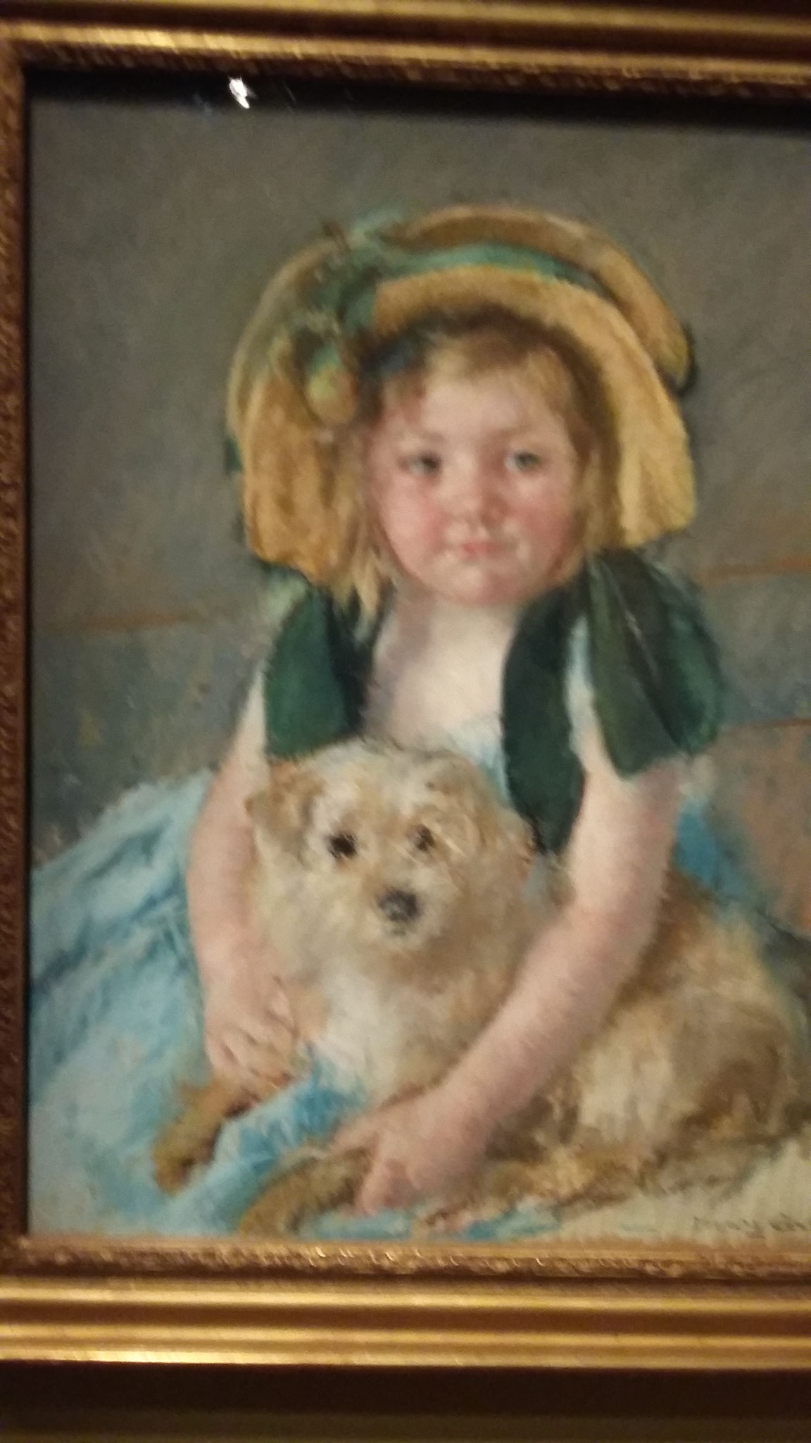 Sara avec son chien 1901 - Mary Cassatt