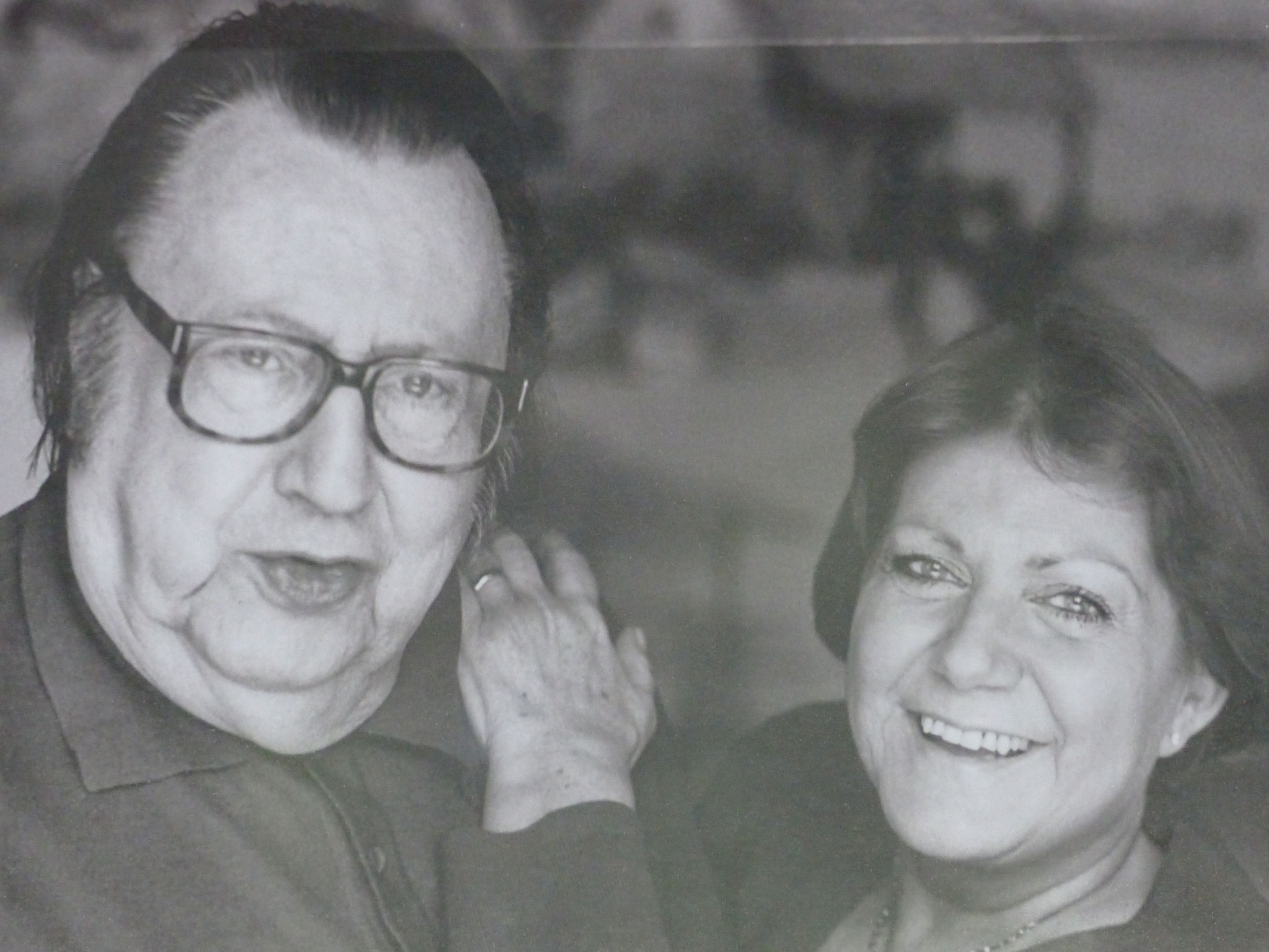 Avec son épouse Simone Beguin