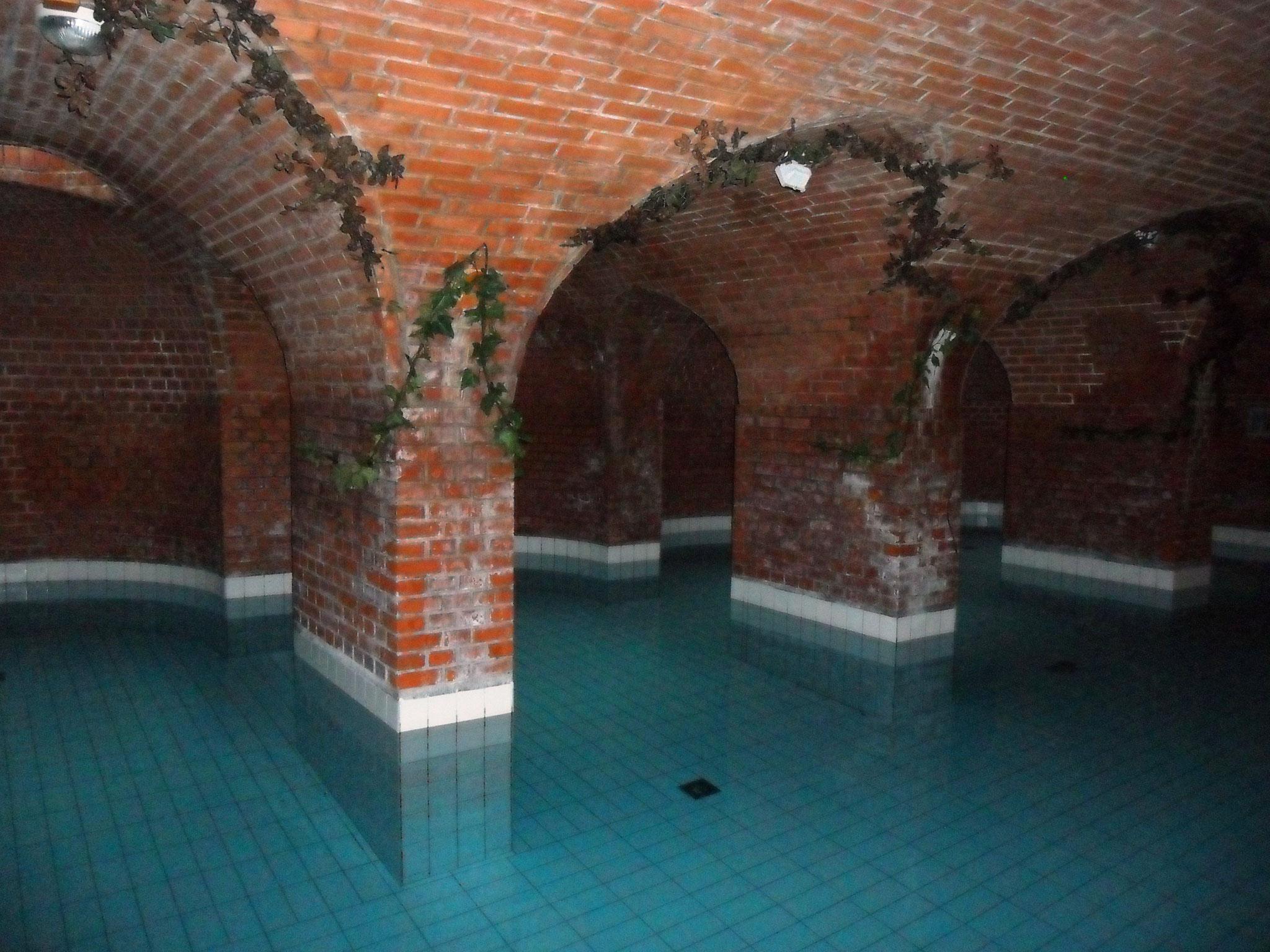 Das hoteleigene Bad im Keller