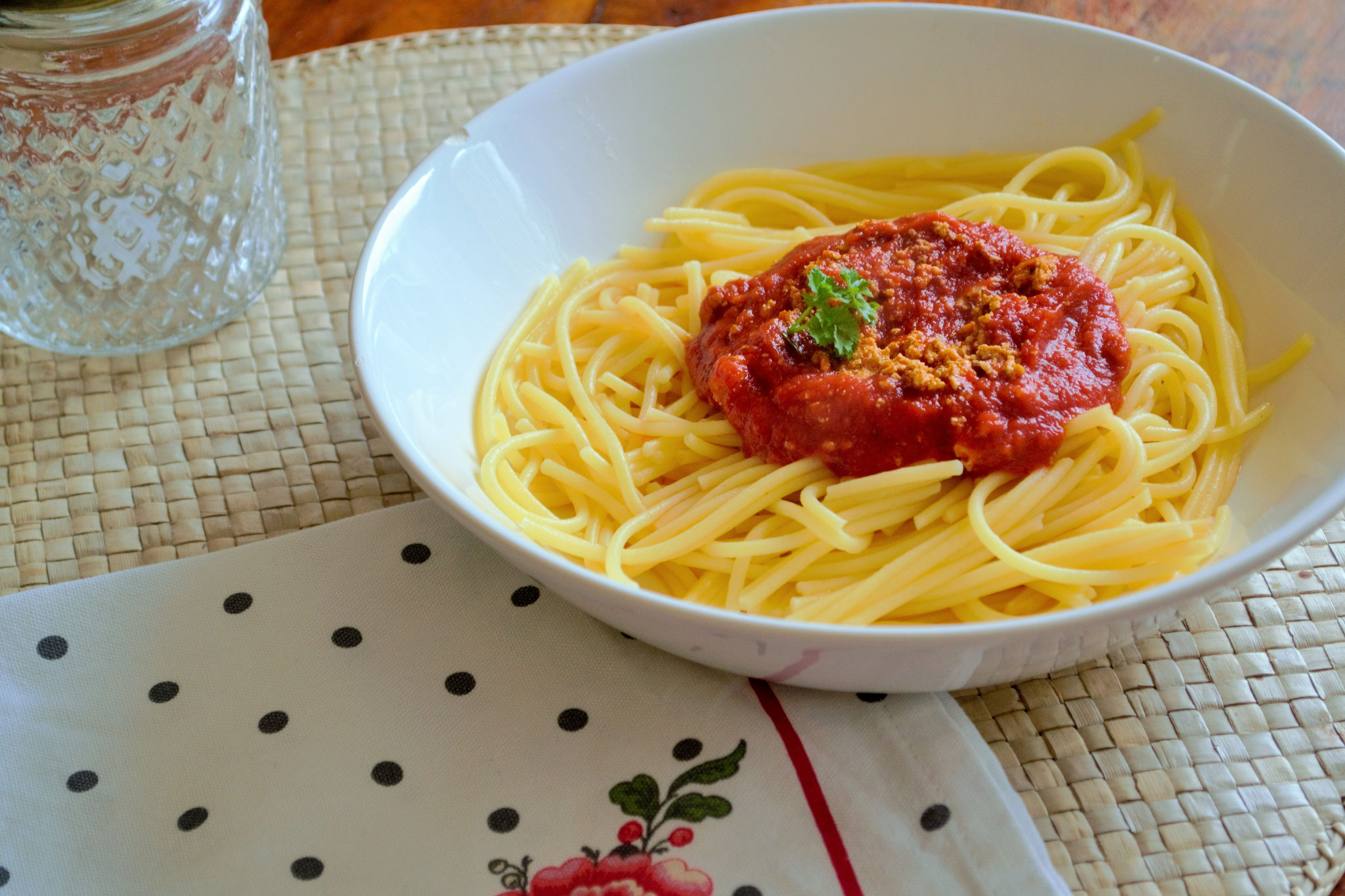 glutenfrei vegane Spaghetti Bolognese