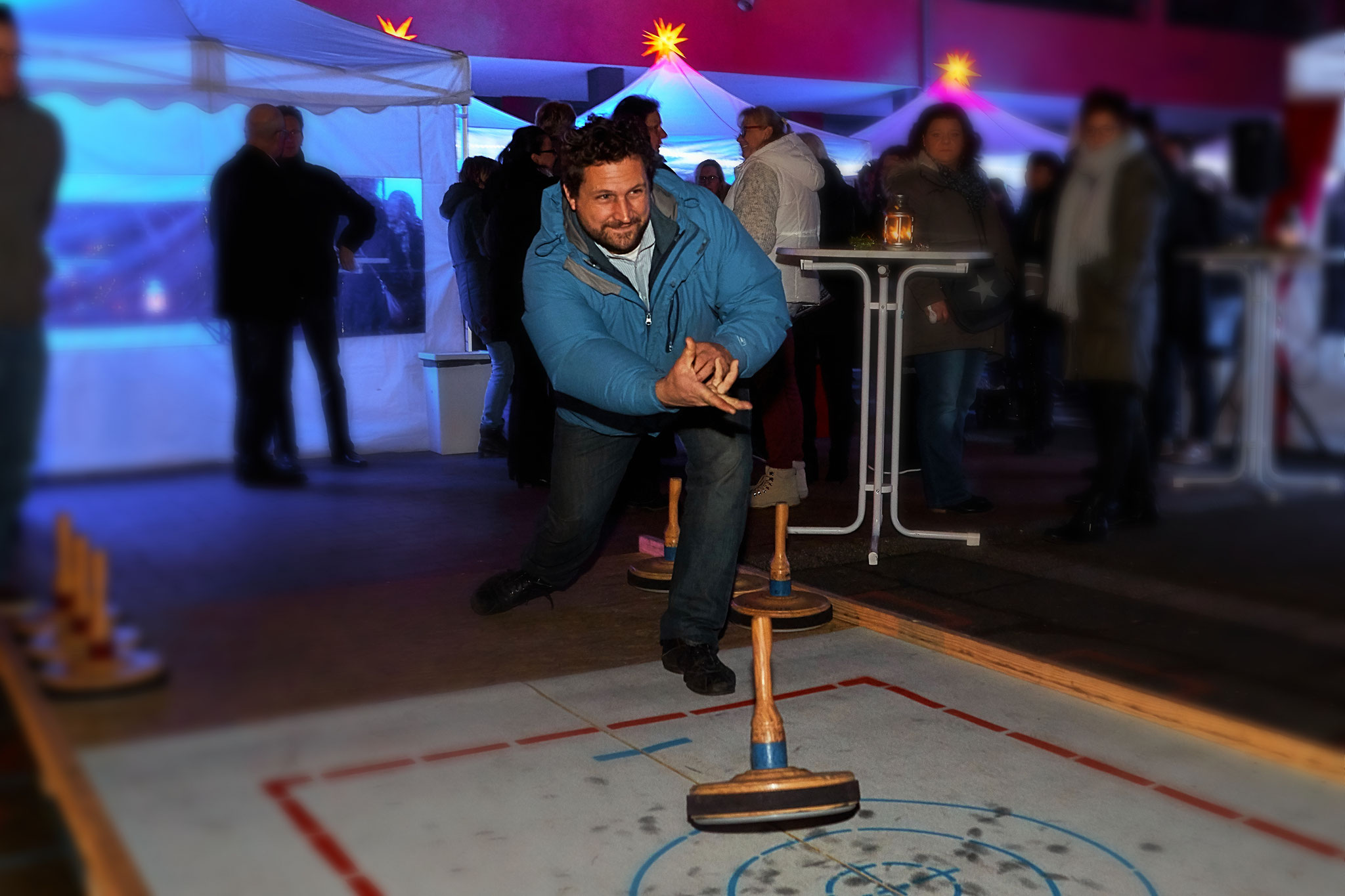 Viel Spaß bei Teambuilding mit Curlingbahn